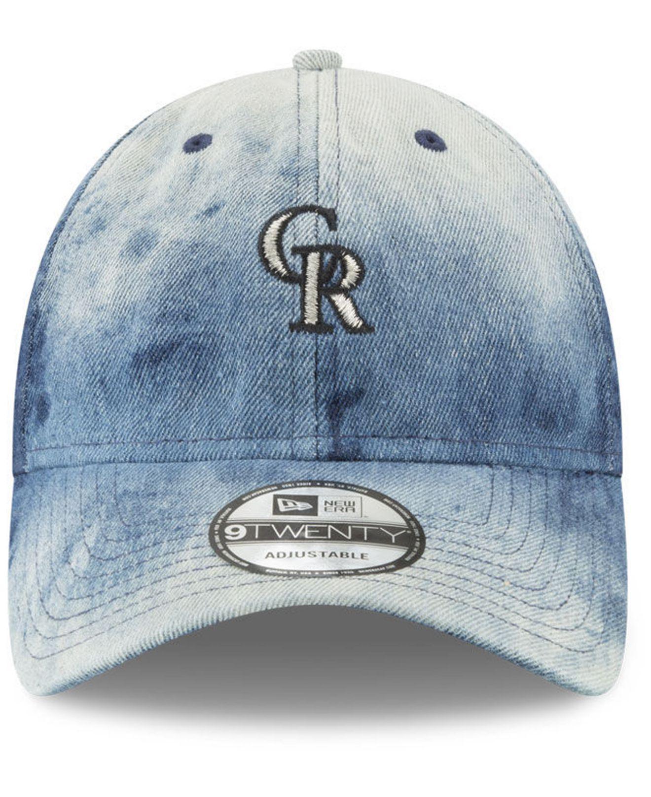 big sale e5831 5e5fc ... coupon for lyst ktz colorado rockies denim wash out 9twenty cap in blue  for men 49253