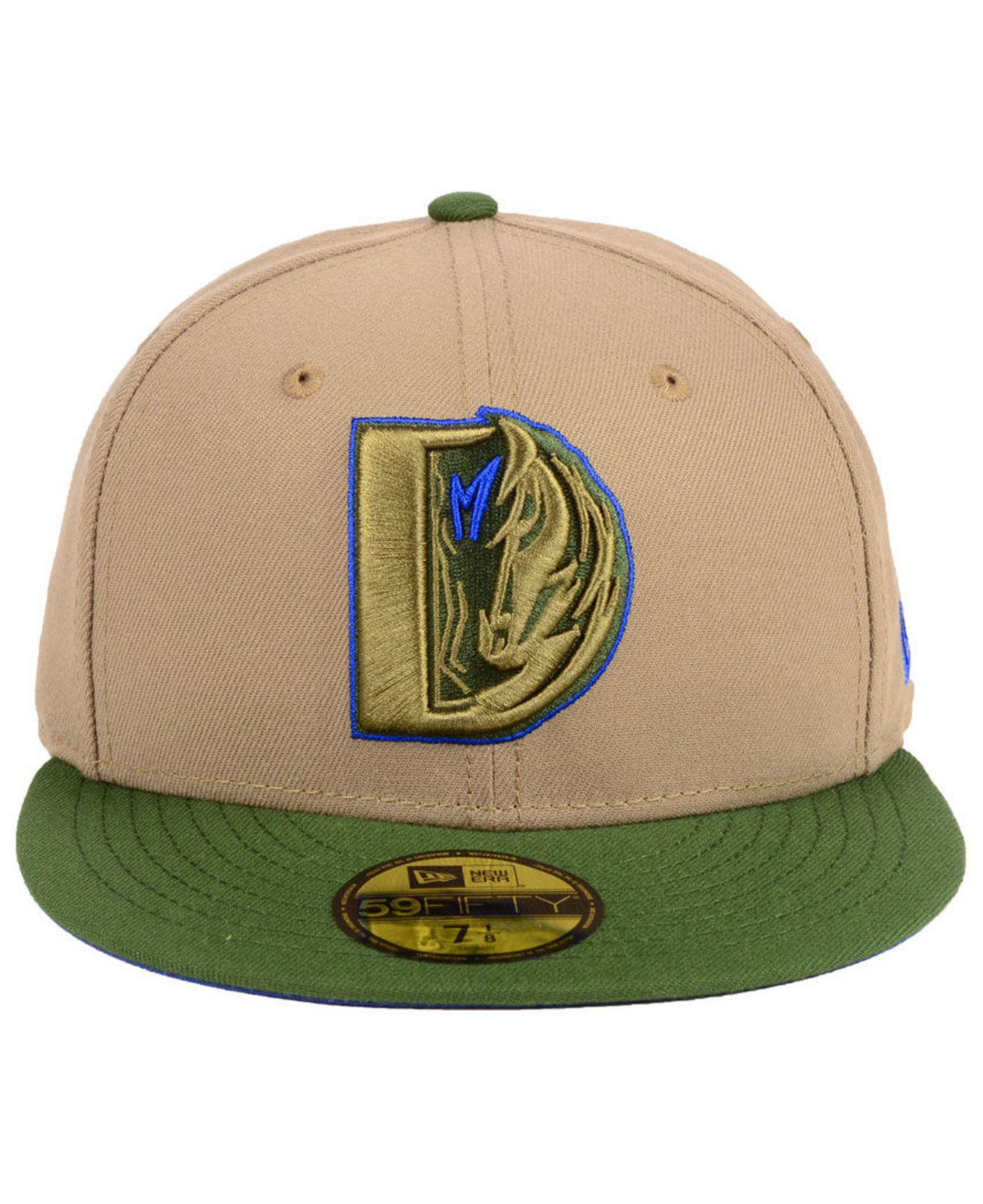 quality design f56a4 cf69a ... italy lyst ktz dallas mavericks fall 2 tone combo 59fifty fitted cap in  green for men