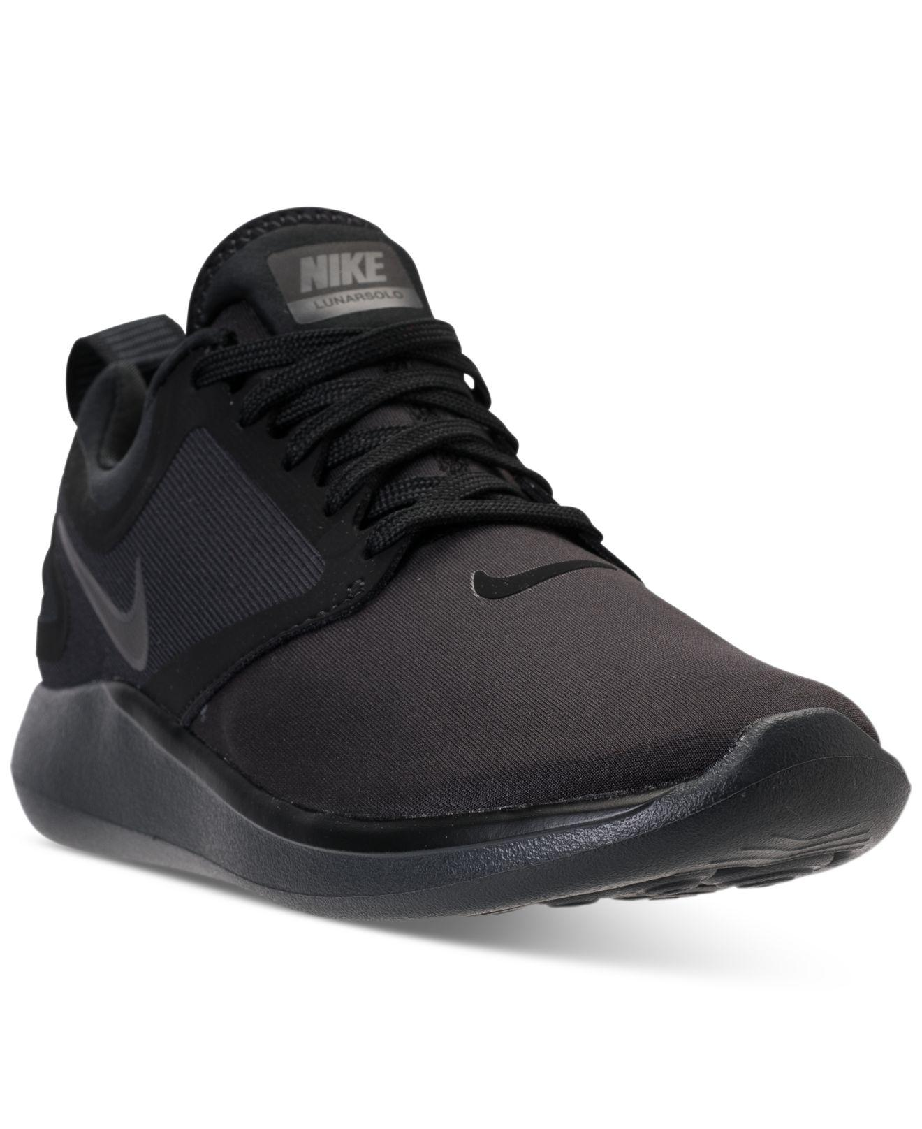 Nike - Black Women's Lunarsolo Running Sneakers From Finish Line - Lyst.  View Fullscreen