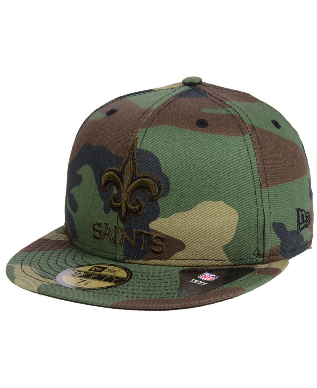 hot sale online 2fcd6 6f234 KTZ New Orleans Saints Woodland Prism Pack 59fifty-fitted Cap in ...