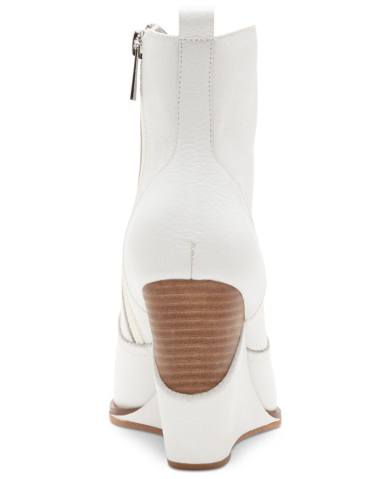 80a5177b6c2d73 Lyst - Jessica Simpson Hilrie Western Booties in White