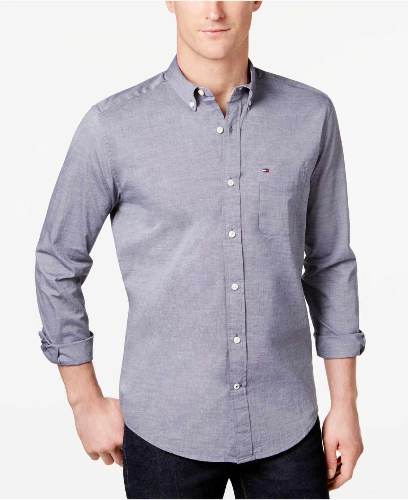 1e4afecb83cb Lyst - Tommy Hilfiger Big   Tall Capote Shirt in Blue for Men - Save 67%