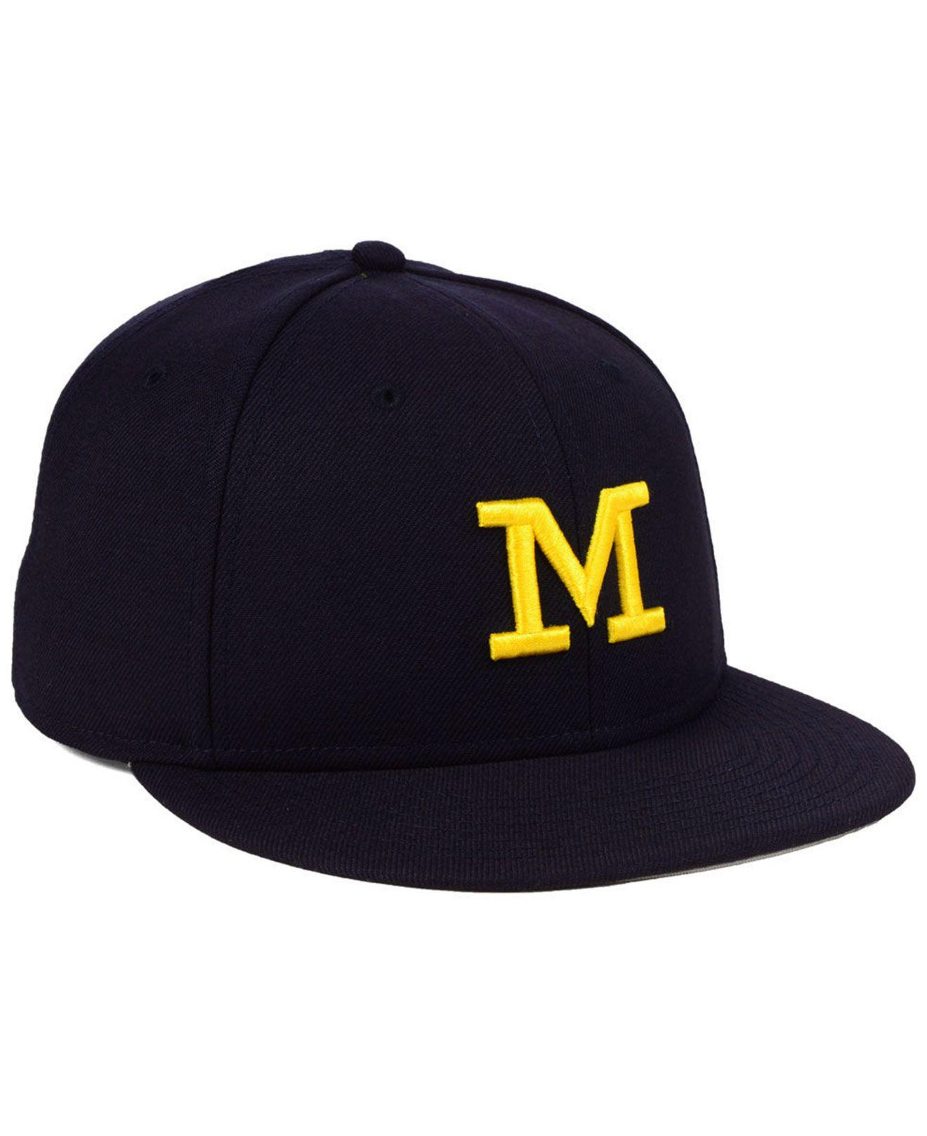 brand new fd840 88964 ... ncaa anthracite snapback cap 565314 450f9 a9df8  canada nike blue  michigan wolverines true wool fitted cap for men lyst. view fullscreen 2d935