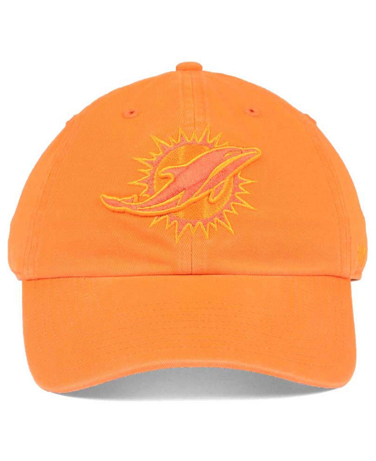 huge discount 9180f e0f01 ... reduced lyst 47 brand triple rush clean up cap in orange for men d6288  59de1