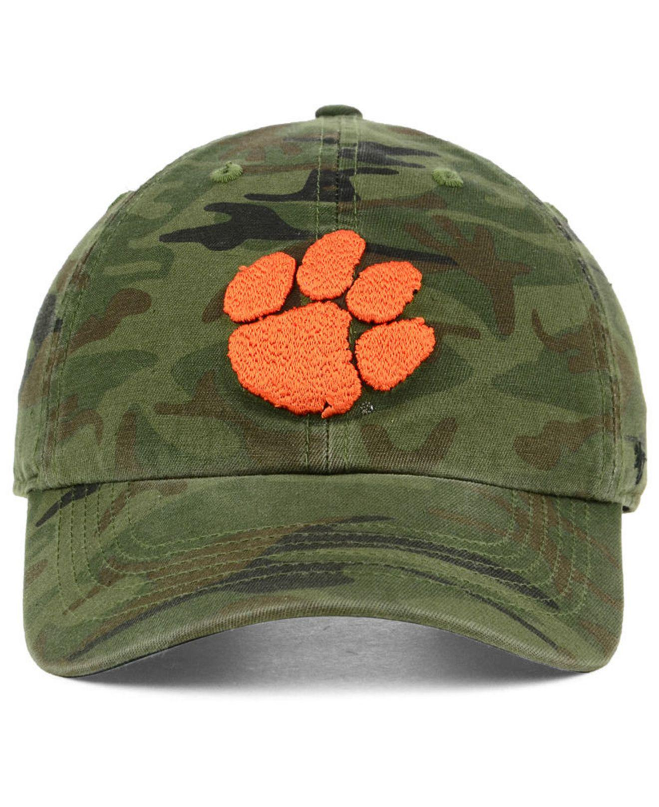 newest f35d8 06a94 Lyst - 47 Brand Clemson Tigers Regiment Clean Up Strapback Cap in Green for  Men