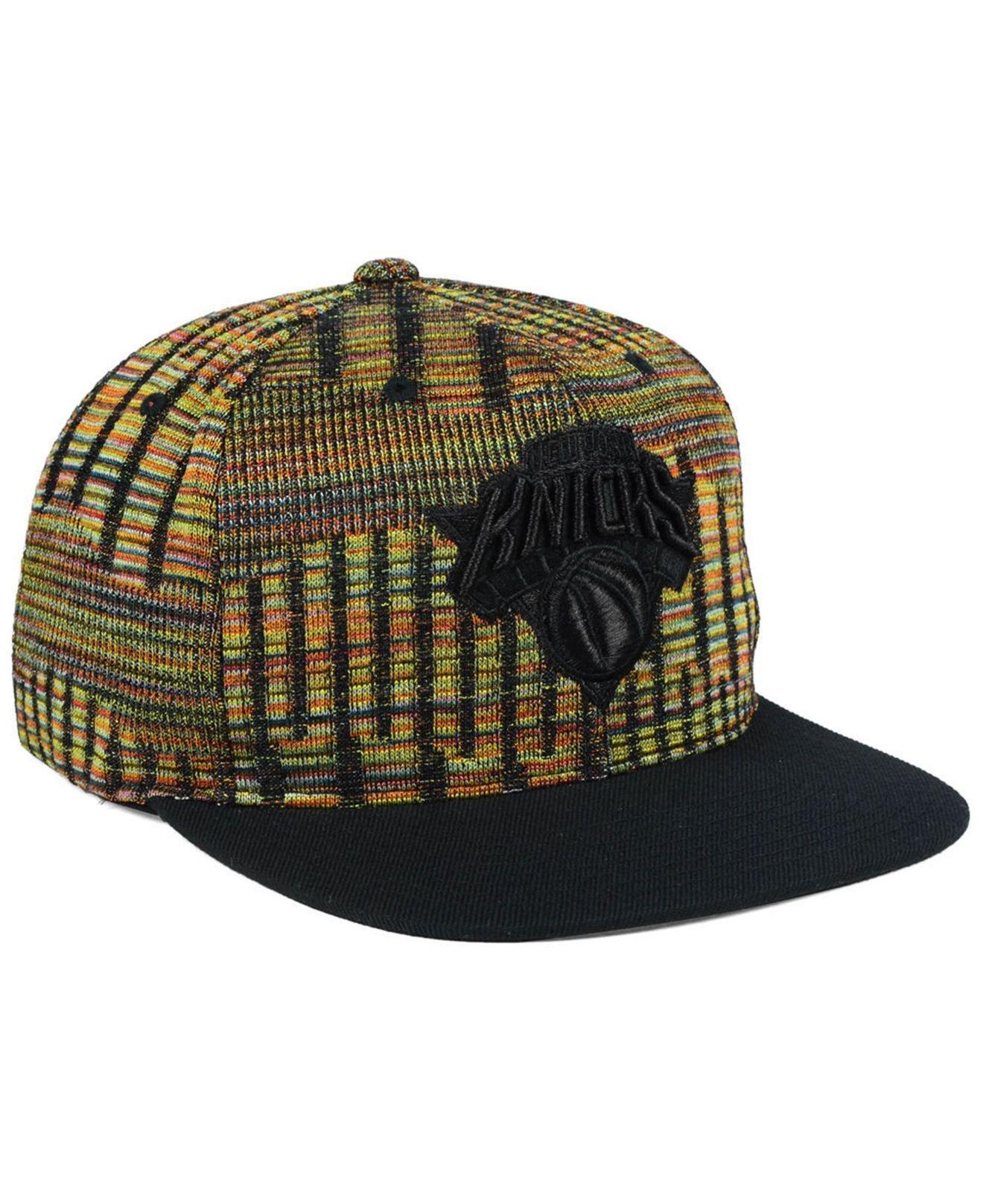 cheap for discount c9844 48878 ... cropped xl logo adjustable snapback hat royal orange 614b5 fba7f   canada lyst mitchell ness new york knicks black flag snapback cap in 84740  baa27