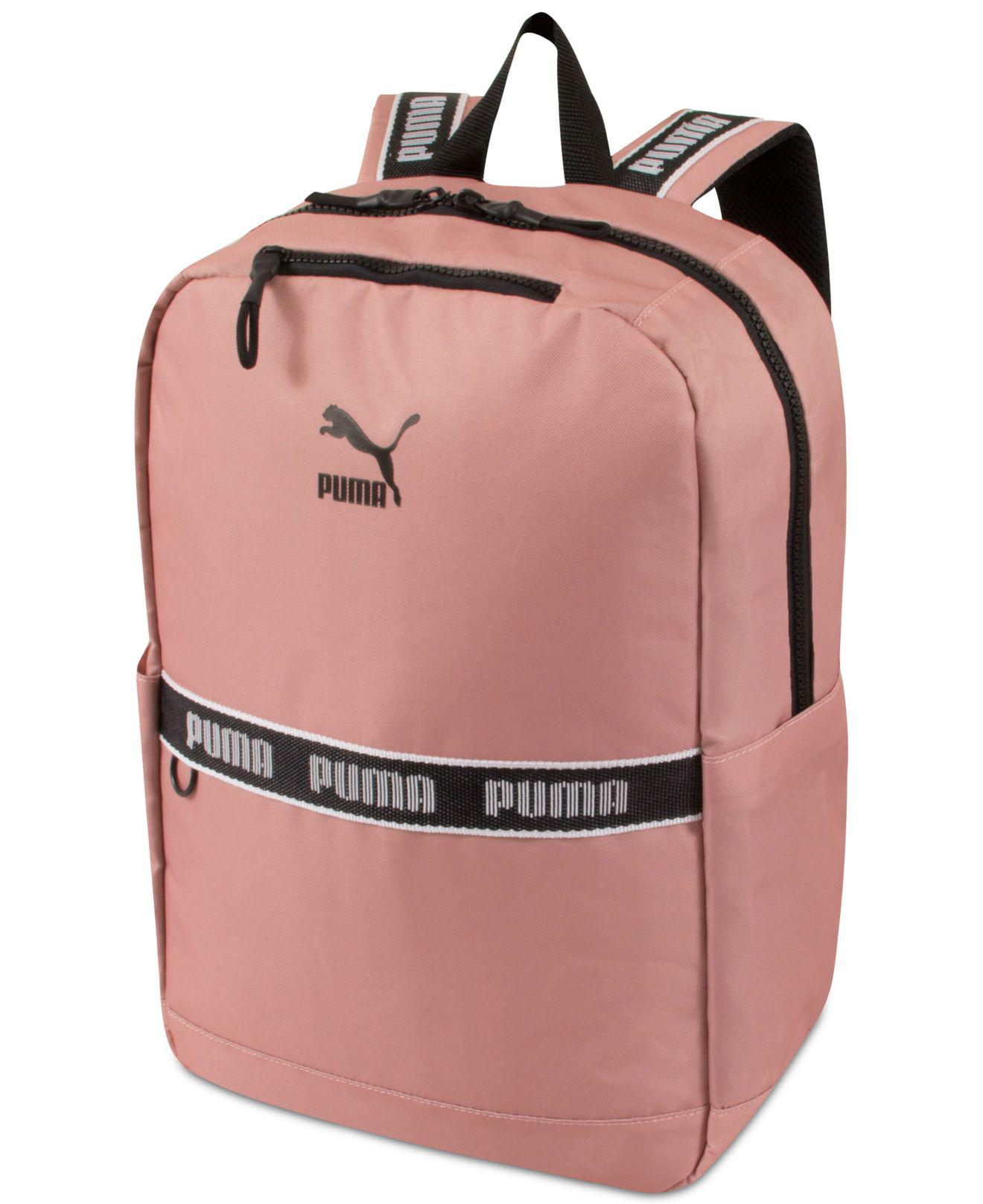 ad4c6a2d355a Lyst - PUMA Linear Canvas Backpack in Pink