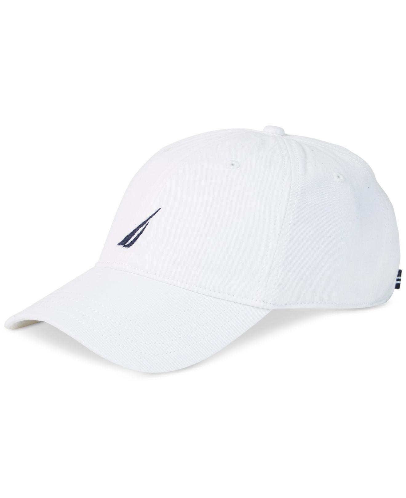 277ef1ec214 Lyst - Nautica Logo Baseball Cap in White for Men