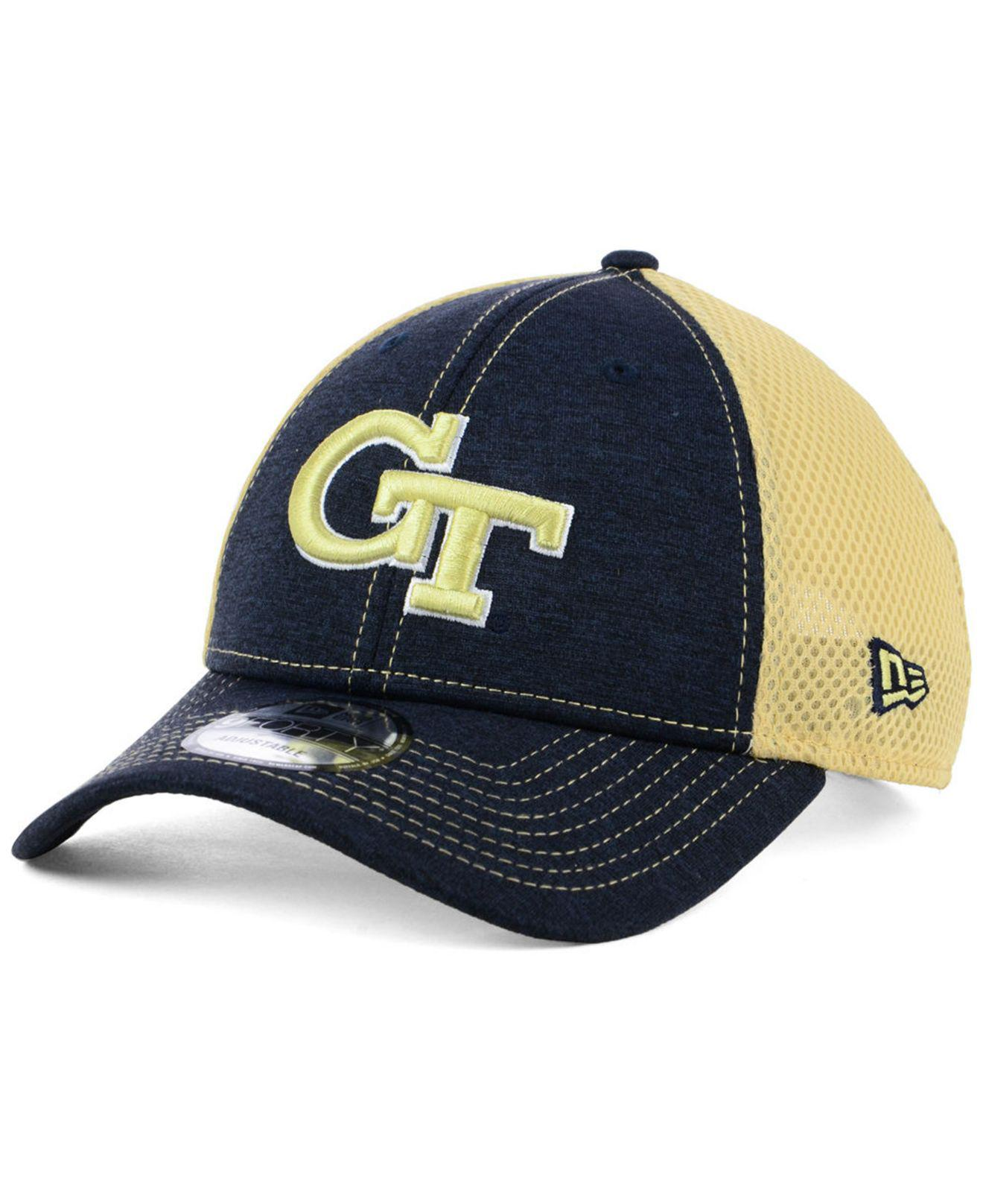 promo code 1a9e7 48150 KTZ. Men s Blue Georgia-tech Shadow Turn 9forty Cap