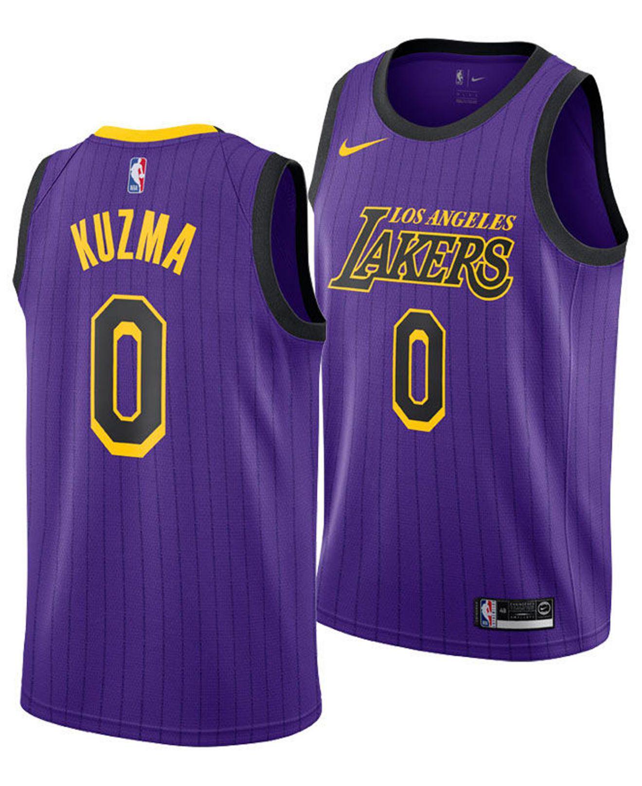 00e4a509fe1 Nike. Men s Purple Kyle Kuzma Los Angeles Lakers City Swingman Jersey 2018