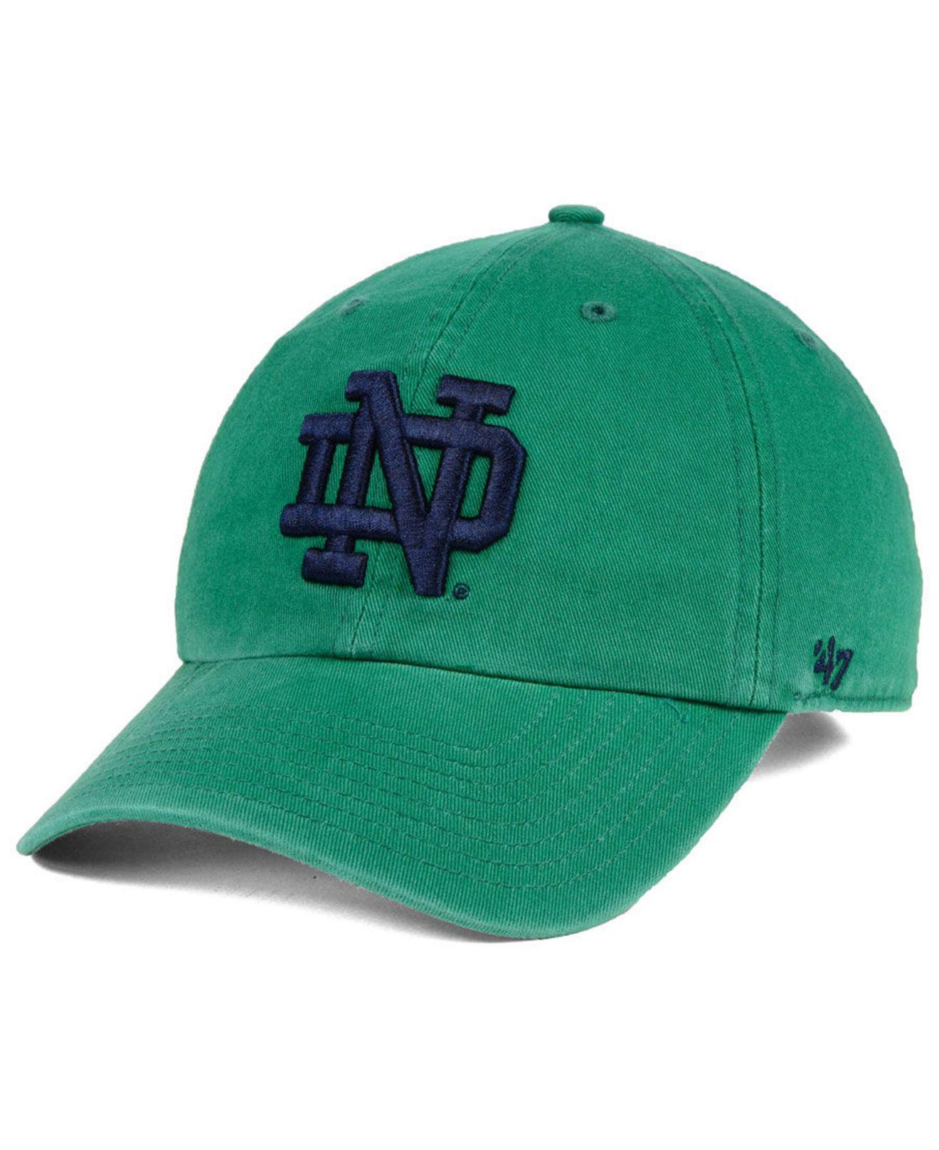 def635cb59781 ... 50% off lyst 47 brand notre dame fighting irish clean up strapback cap  in 6f15c