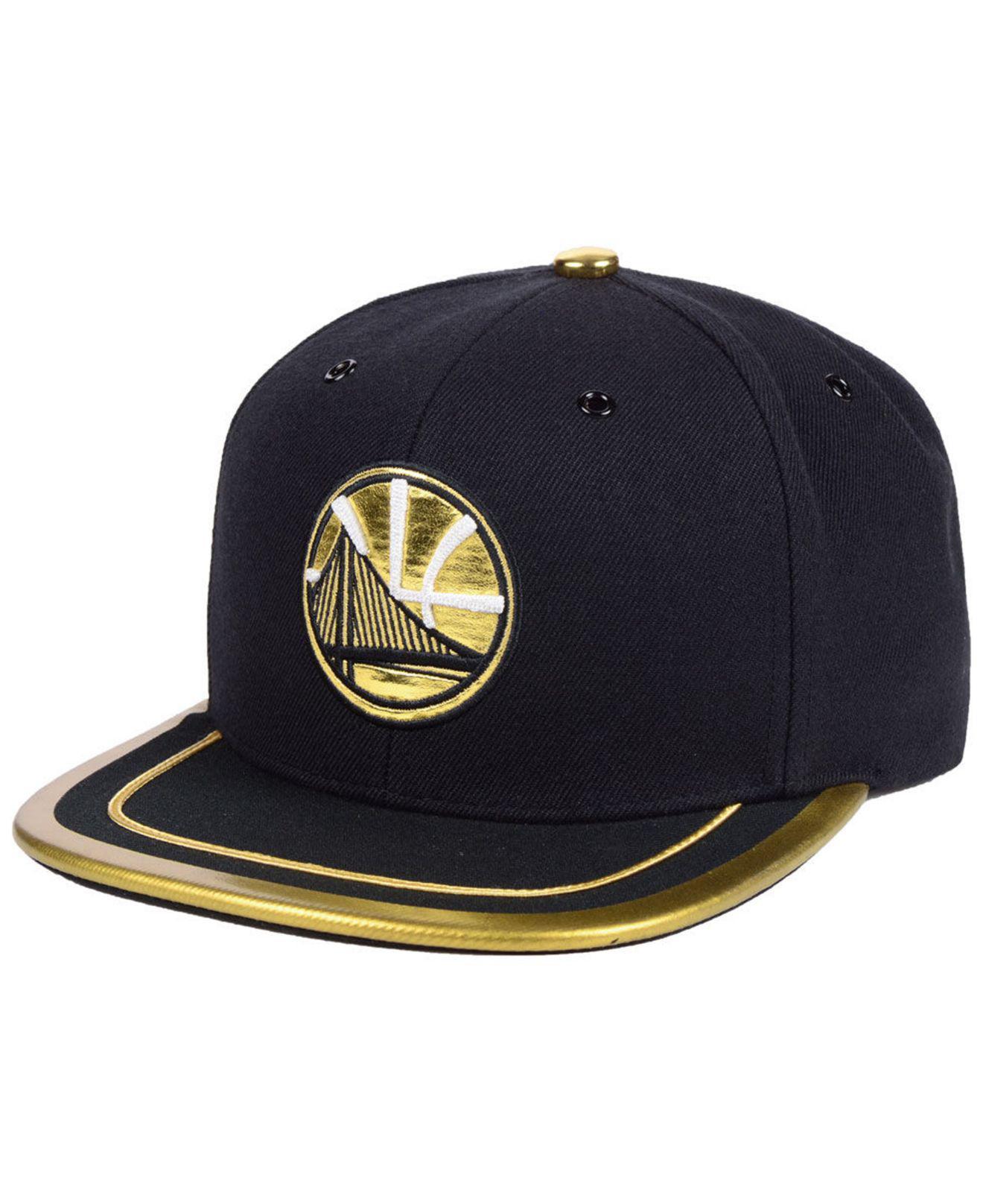 5a71e63bd Mitchell & Ness Golden State Warriors Soutache Viz Snapback Cap in ...
