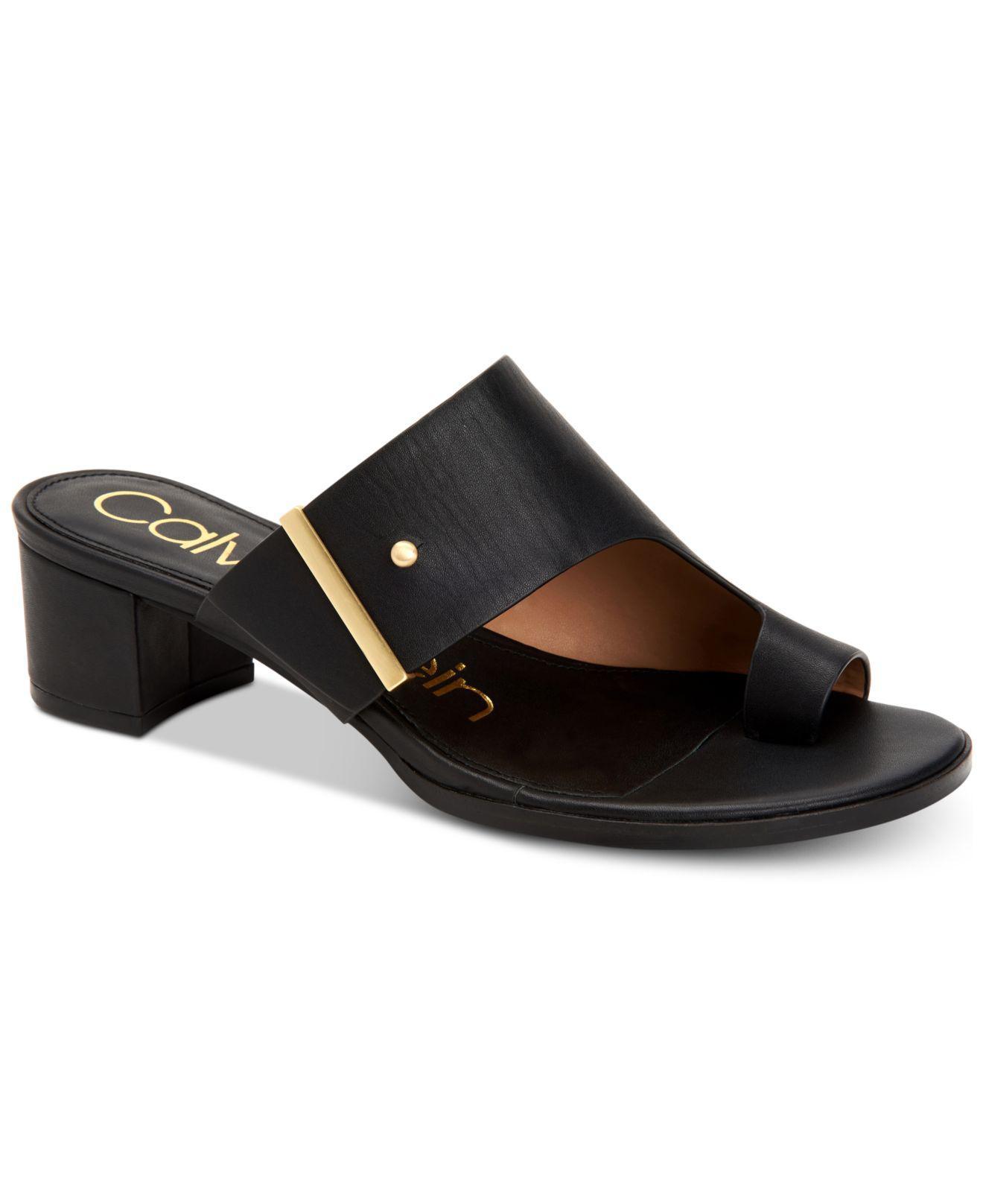 012cf1baa3 Calvin Klein Daria Dress Sandals, Created For Macy's in Black - Lyst