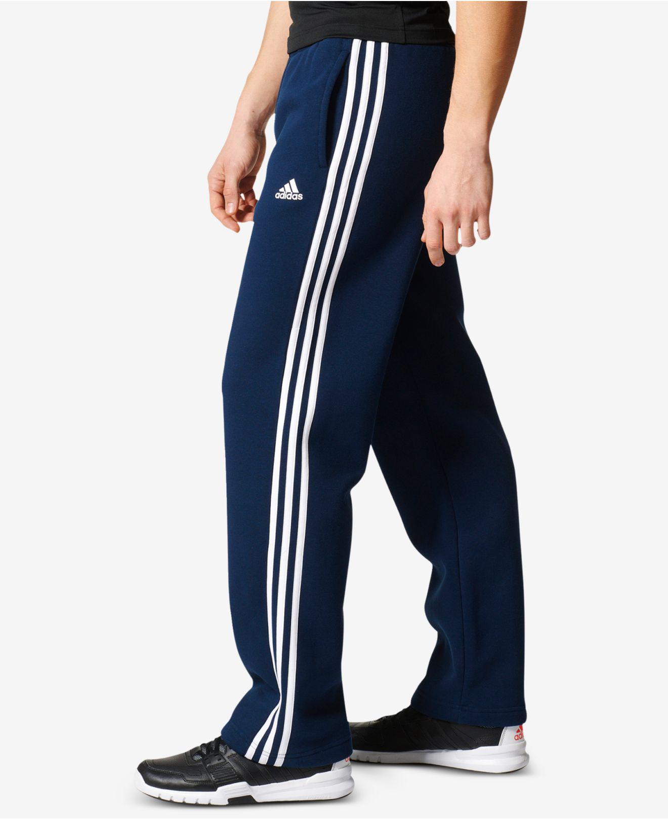 95f286b5d65b Lyst - adidas Men s Essentials Fleece Sweatpants in Blue for Men