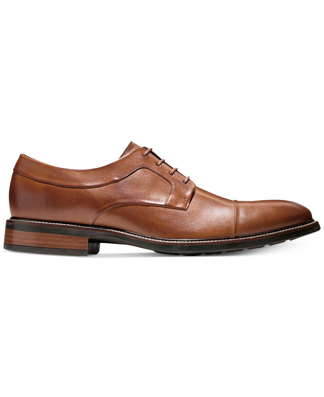 751b3a159b6 Lyst - Cole Haan Men s Hartsfield Cap-toe Oxfords in Brown for Men