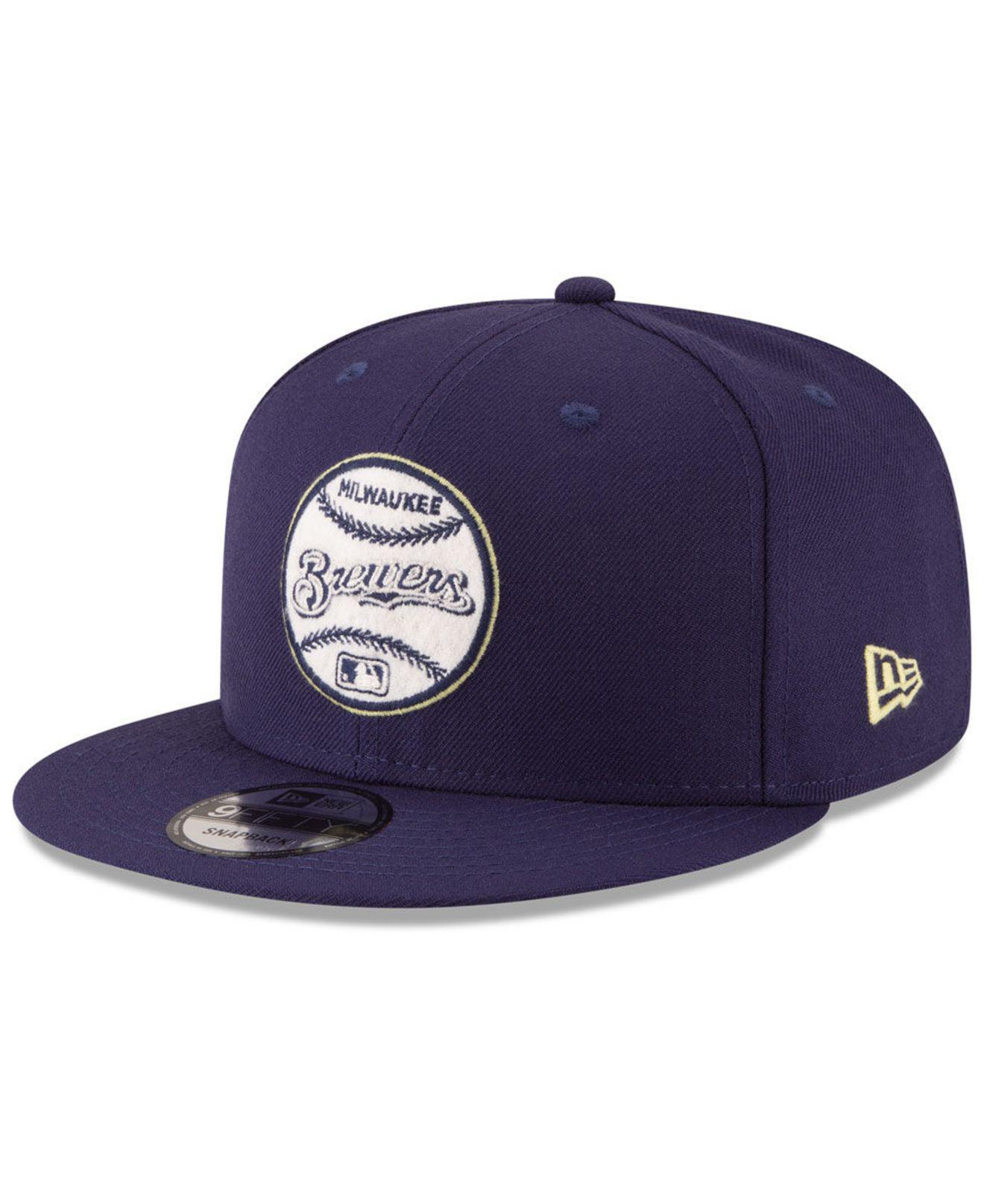 separation shoes abcdd 2f7a0 ... Milwaukee Brewers Vintage Circle 9fifty Snapback Cap for Men - Lyst.  View fullscreen