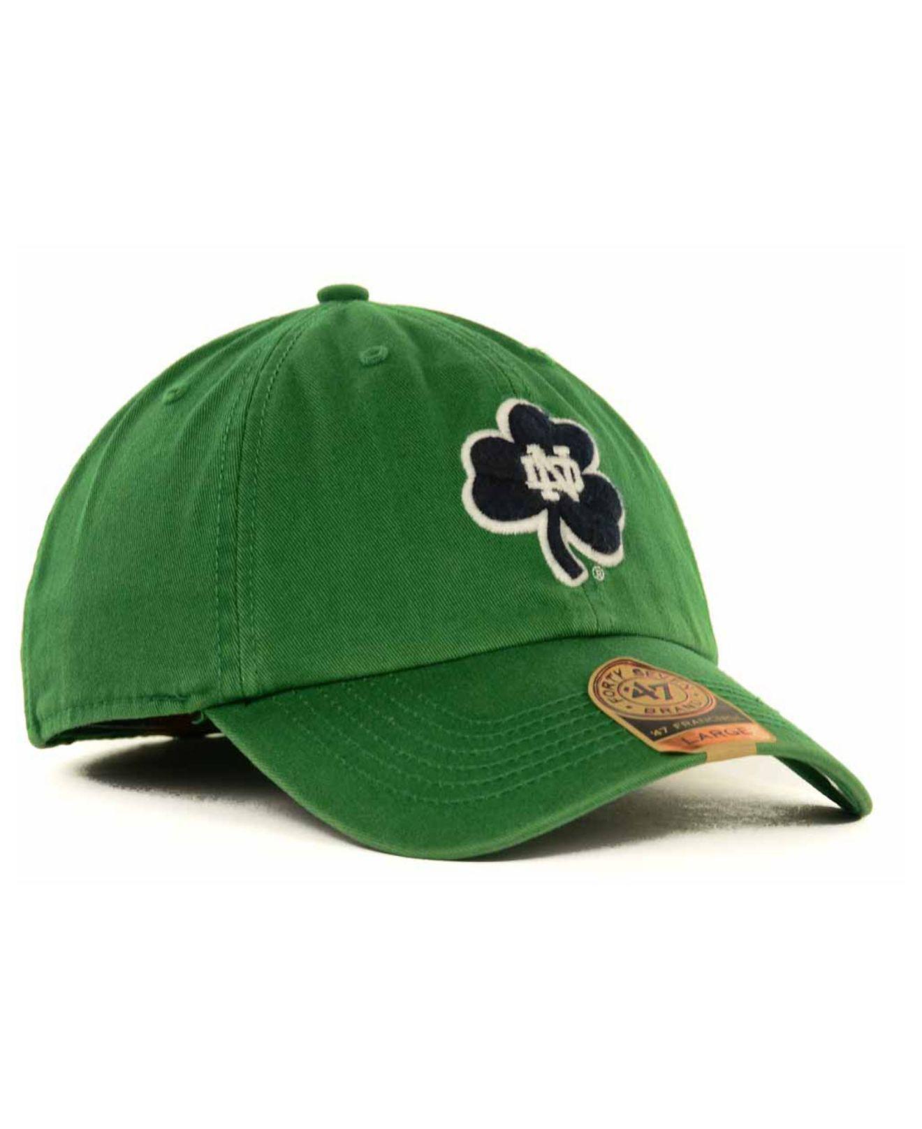best value b7282 cdb1a ... denmark lyst 47 brand notre dame fighting irish franchise cap in blue  for men 9f443 33cdf