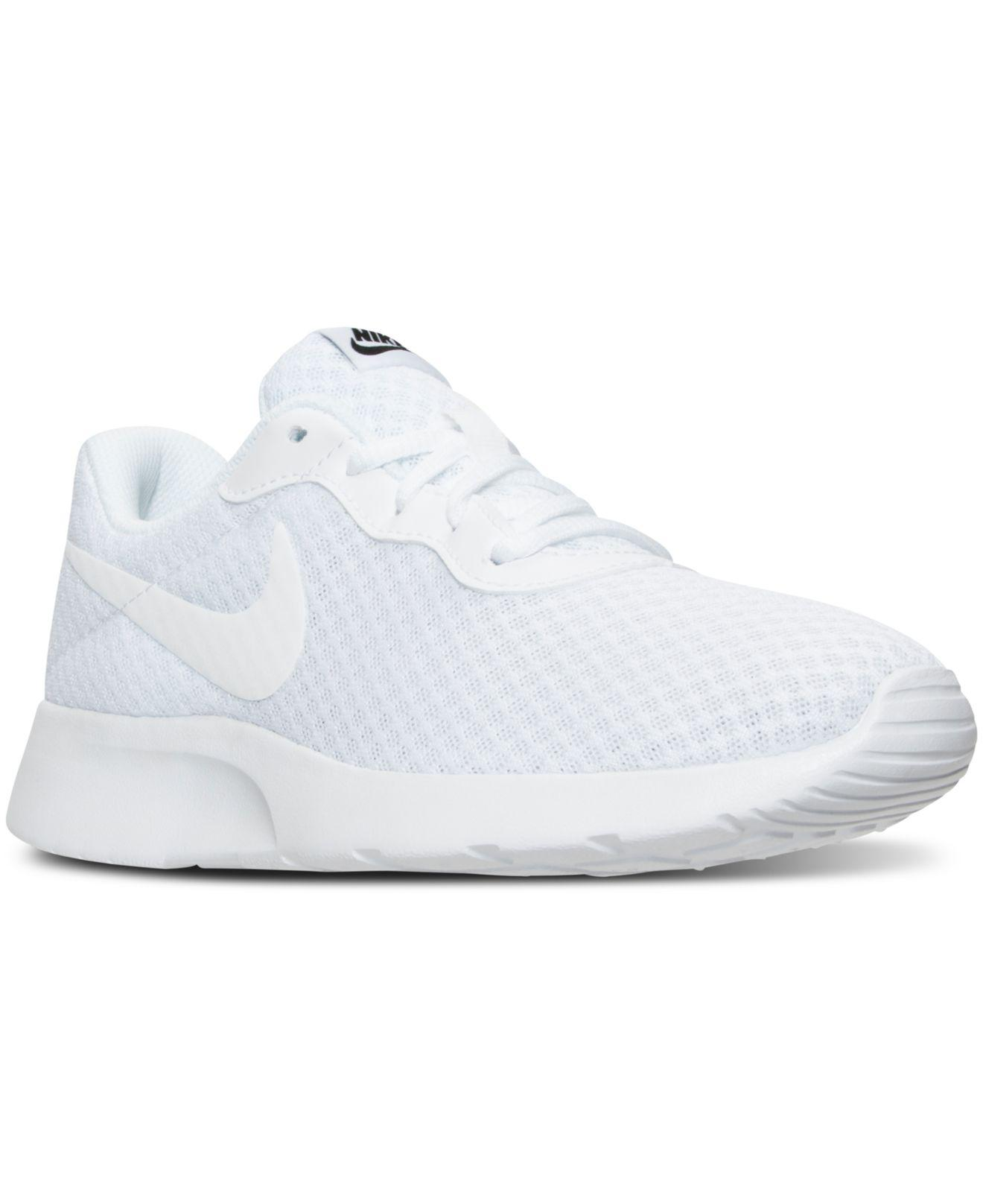 Lyst - Nike Women s Tanjun Casual Sneakers From Finish Line in White a1a86980f