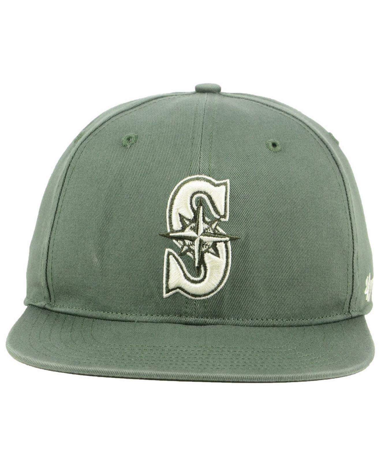 online retailer 3c61e 78ad1 Lyst - 47 Brand Seattle Mariners Moss Snapback Cap in Green for Men