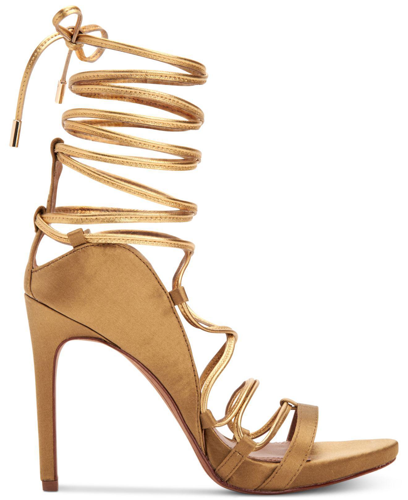 e9f31354eef Lyst - BCBGMAXAZRIA Esme Strappy Dress Sandals in Metallic - Save 22%