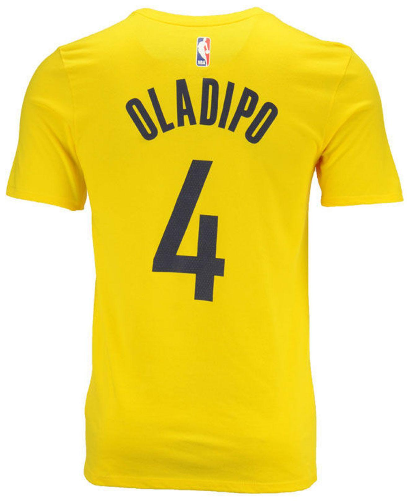 23cff9179 Nike. Yellow Victor Oladipo Indiana Pacers Statement Player T-shirt