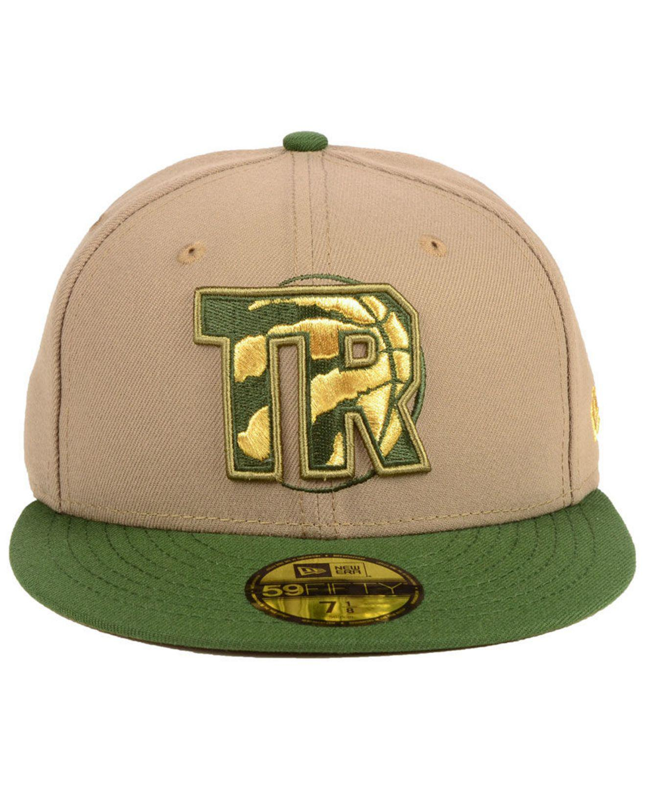 innovative design e5382 5e49c ... inexpensive lyst ktz toronto raptors fall 2 tone combo 59fifty fitted  cap in green for men