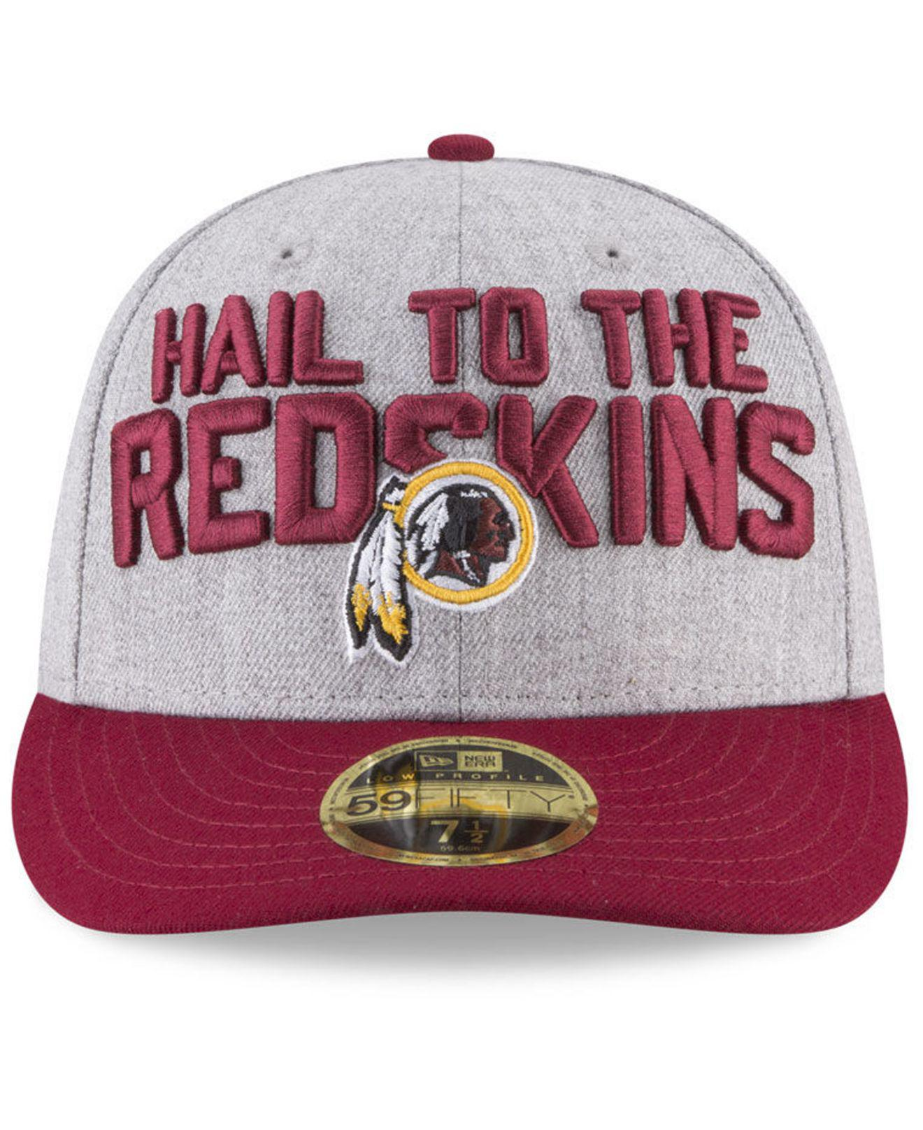 more photos 50067 6ec18 Lyst - KTZ Washington Redskins Draft Low Profile 59fifty Fitted Cap for Men