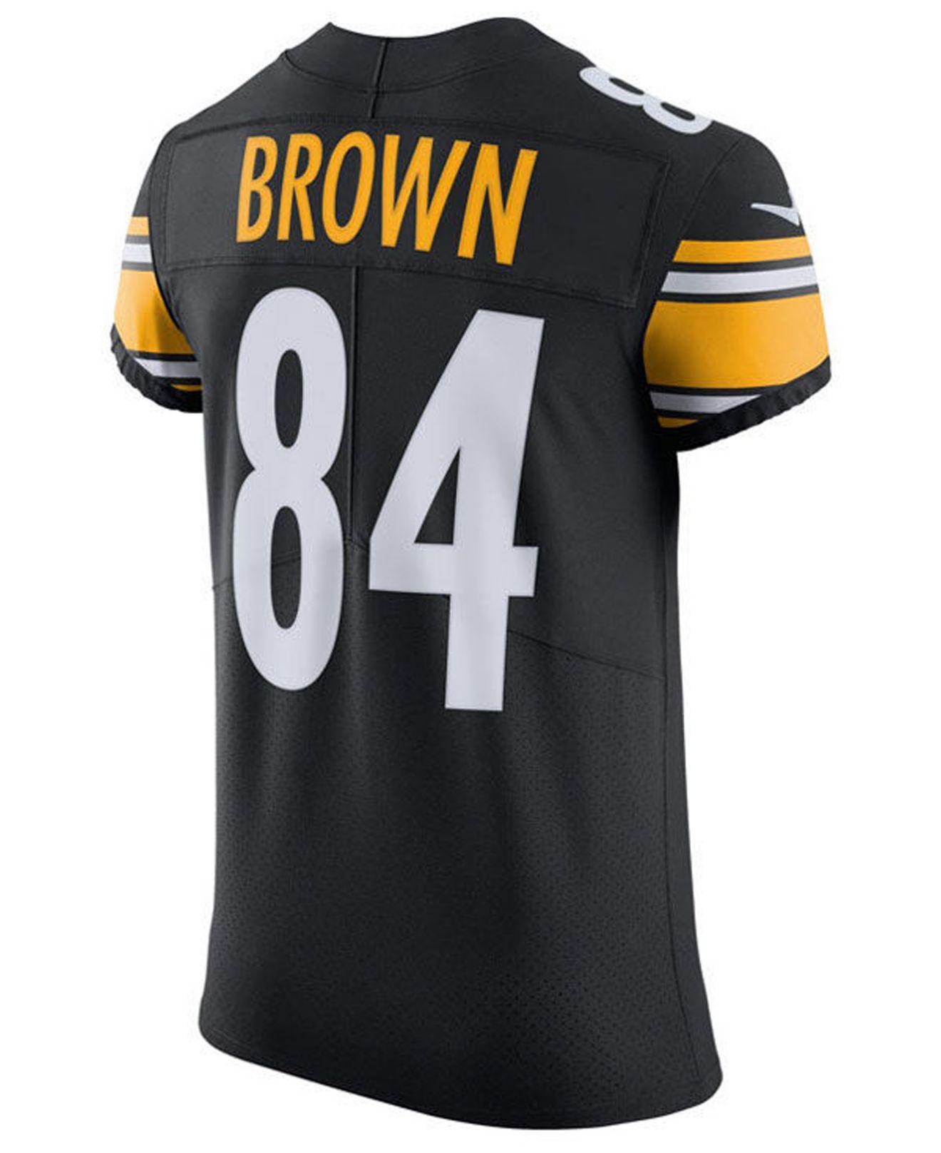676f1053984 Lyst - Nike Antonio Brown Pittsburgh Steelers Vapor Untouchable Elite Jersey  in Black for Men
