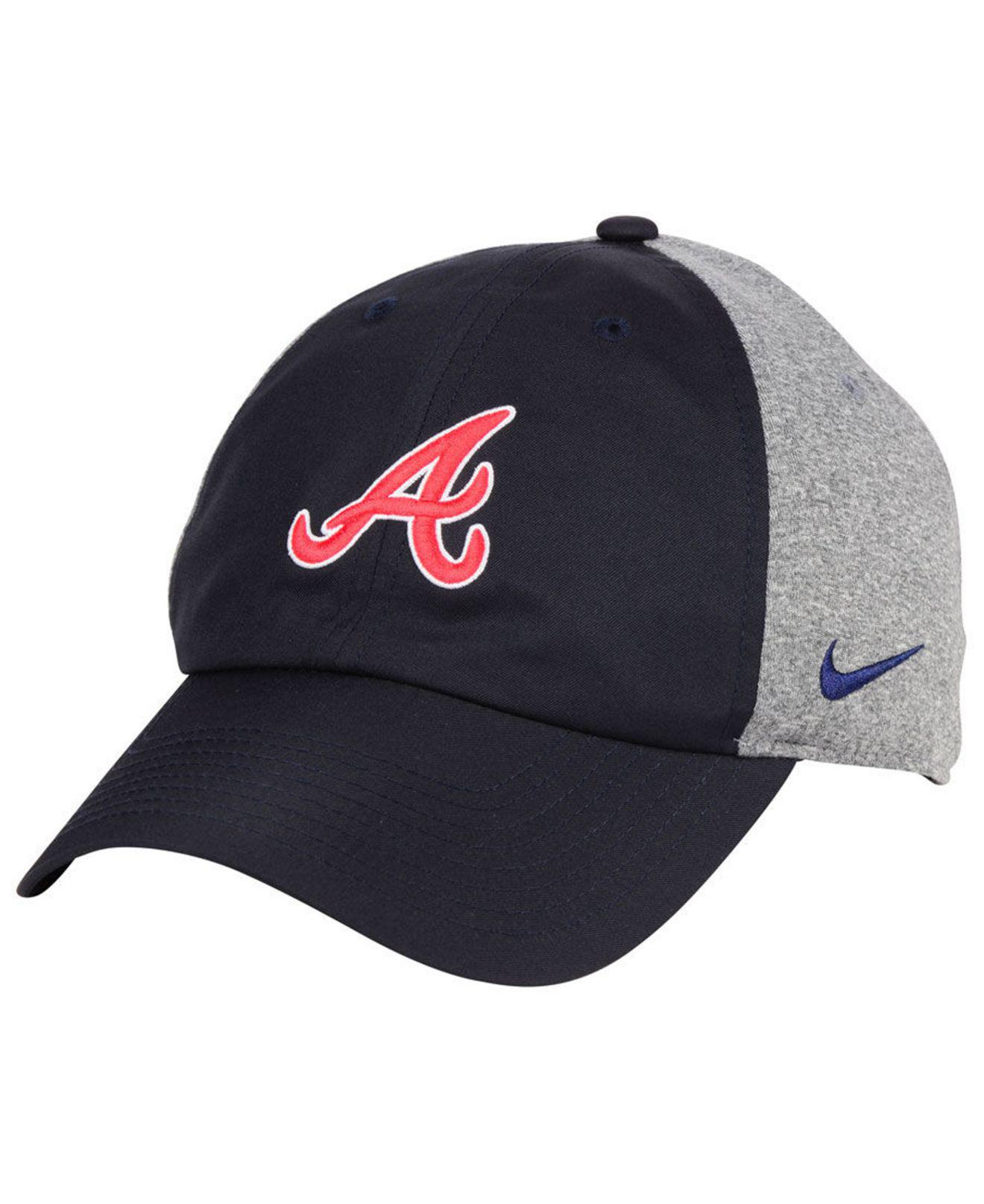 new product 63a9e f6356 ... official lyst nike atlanta braves new day legend cap in blue for men  1255e 76a99