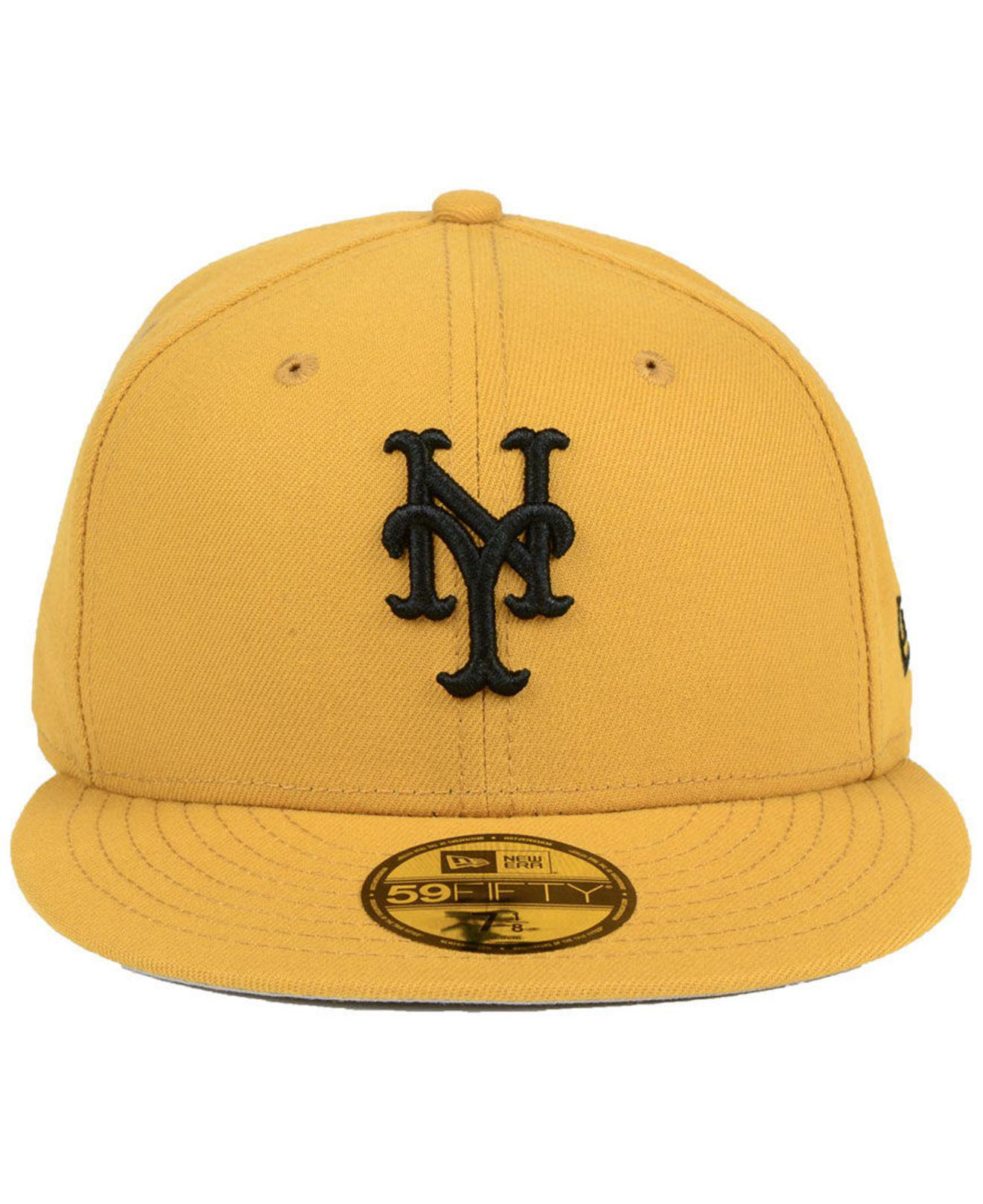 size 40 31ae7 ed568 Lyst - KTZ New York Mets Reverse C-dub 59fifty Fitted Cap in Yellow for Men