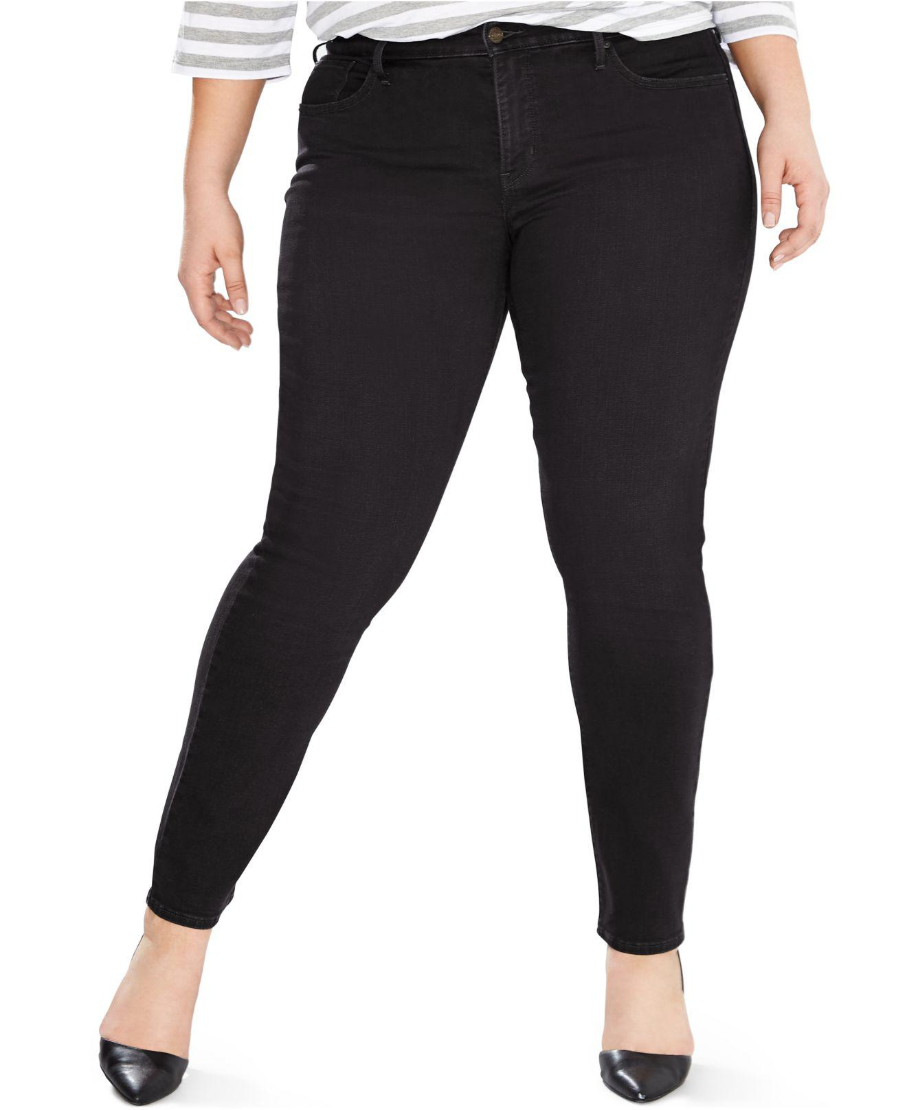 520b44948ce Lyst - Levi s Plus Size 311 Shaping Skinny Jeans in Black