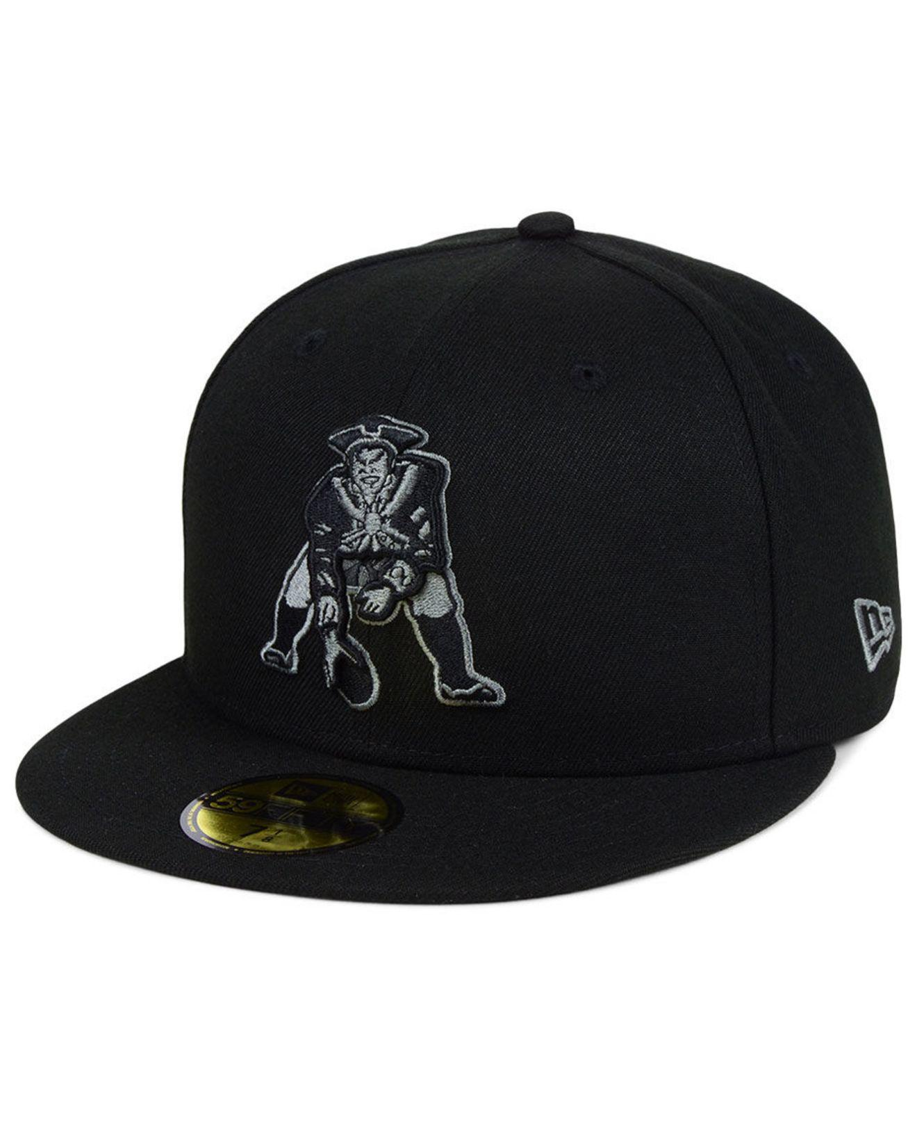 the latest 08d20 7a83a ... purchase ktz new england patriots black gray basic 59fifty fitted cap  for men lyst. view