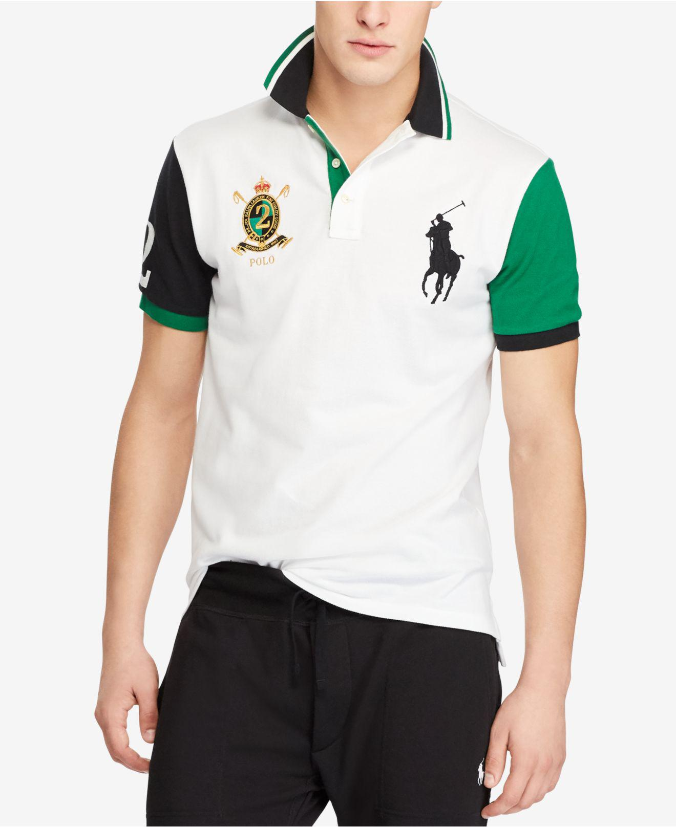 3879687abf14 Lyst - Polo Ralph Lauren Big Pony Custom Slim Fit Mesh Polo for Men
