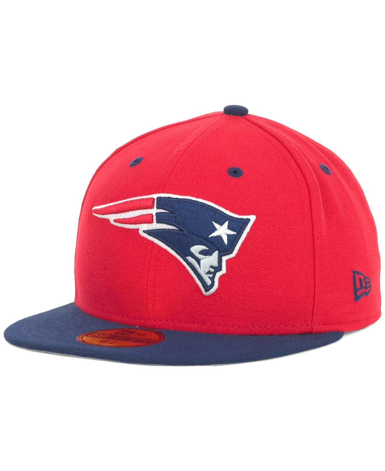 Lyst - KTZ New England Patriots 2 Tone 59fifty Fitted Cap in Red for Men 55c20cffc1fc