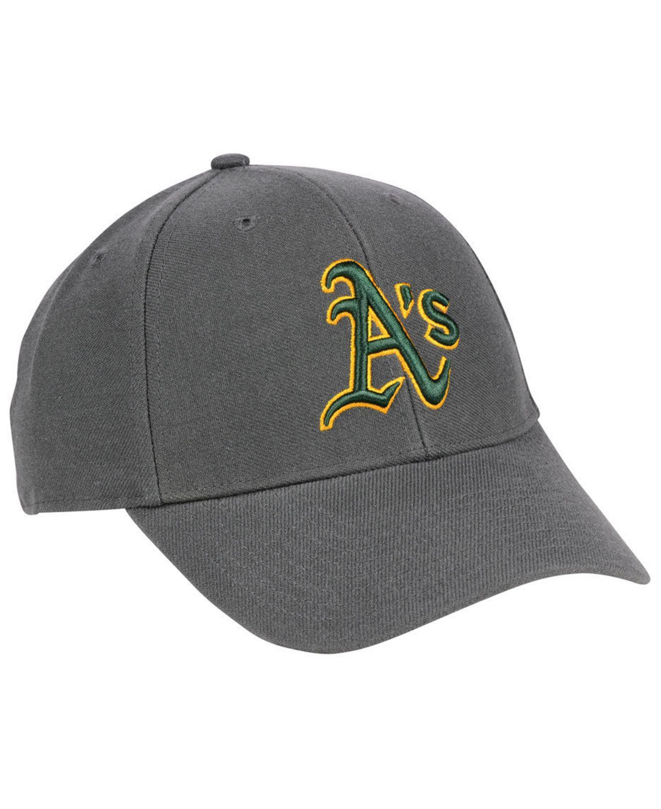 brand new aba96 af983 ... discount closeout lyst 47 brand oakland athletics charcoal mvp cap in  gray for men b5e38 7ae9a