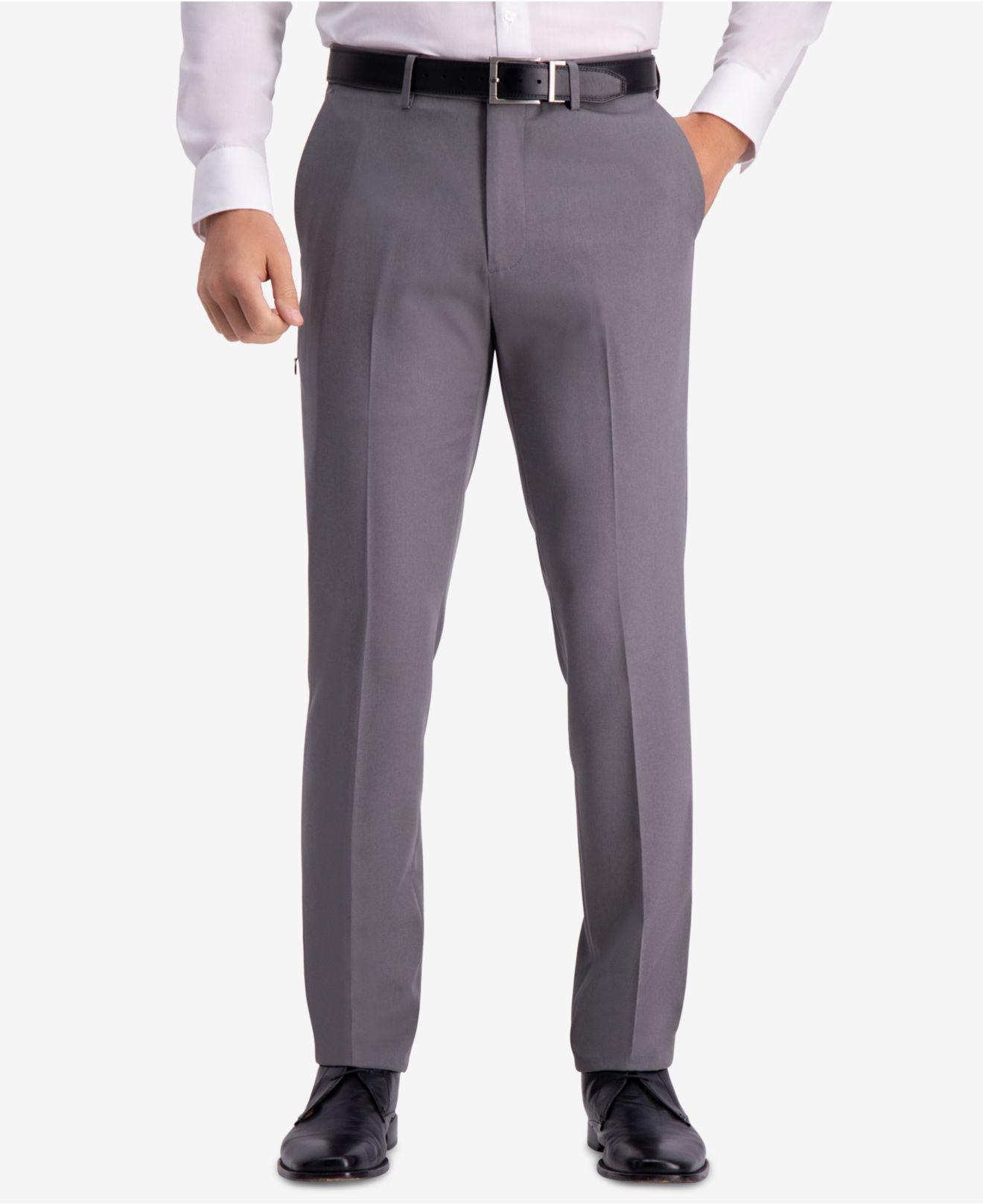 Kenneth Cole Reaction. Men s Gray Technicole Slim-fit Performance Tech  Pocket Dress Pants cd960f526