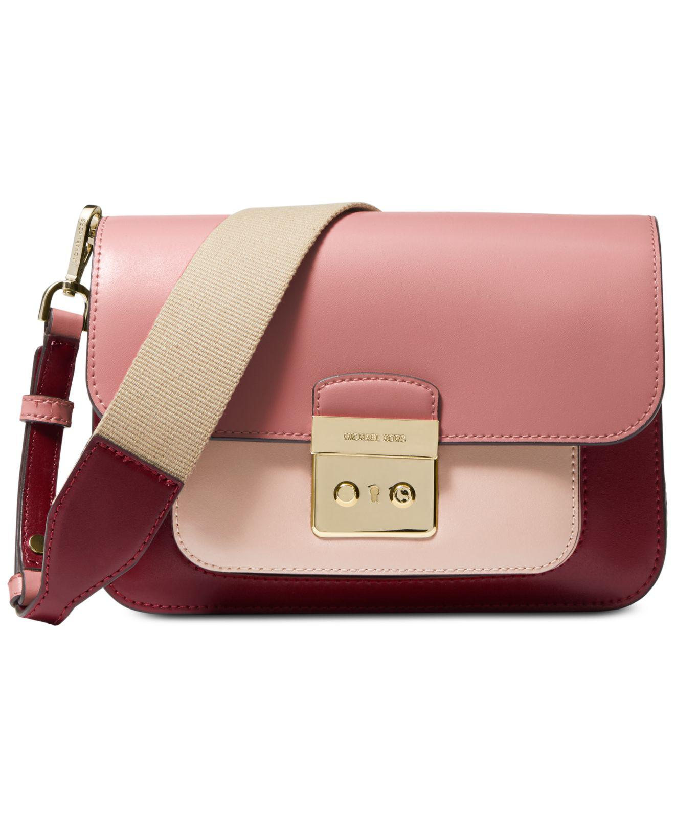 e1f7f756de71 Michael Kors. Women s Pink Michael Sloan Editor Colorblock Leather Shoulder  Bag