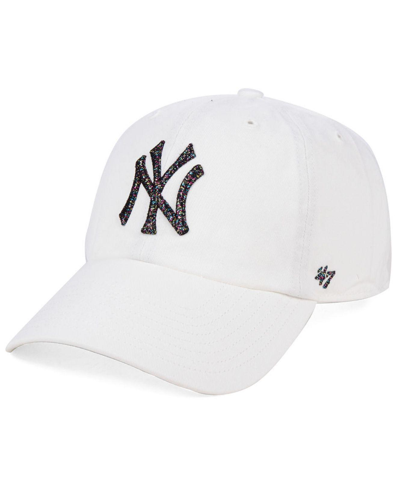 new arrival eb5b5 7b7ab 47 Brand. Men s White New York Yankees Galactic Clean Up Cap