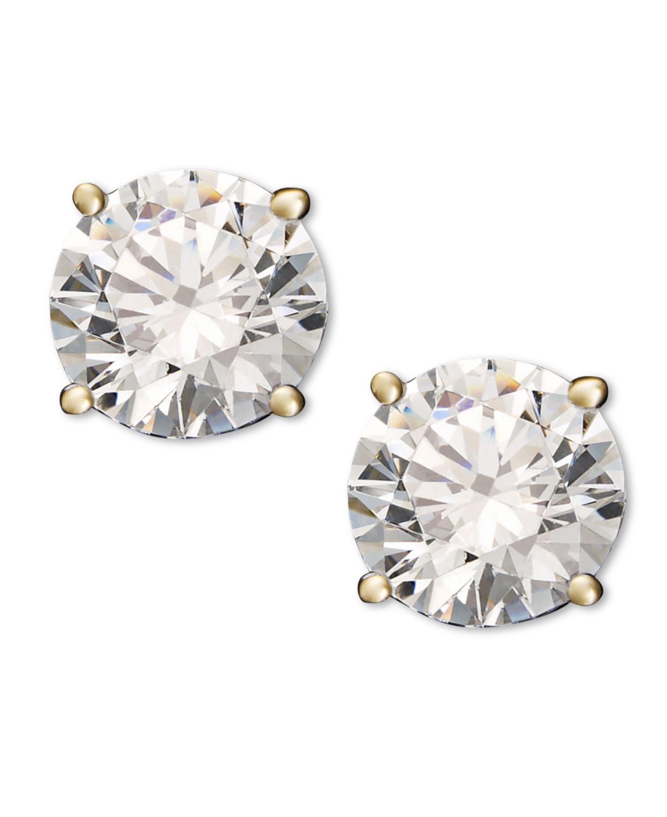 b6a73b376c5 Macy s. Women s Metallic Diamond Stud Earrings (1-1 4 Ct. T.w.) In 14k White  Or Yellow Gold