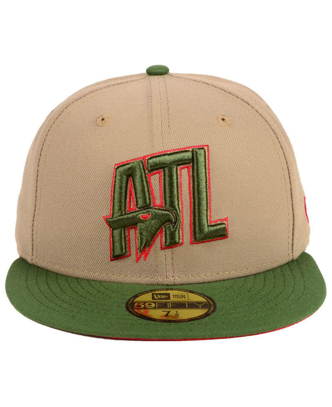 sale retailer eb839 32a00 ... czech lyst ktz atlanta hawks fall 2 tone combo 59fifty fitted cap in  green for men