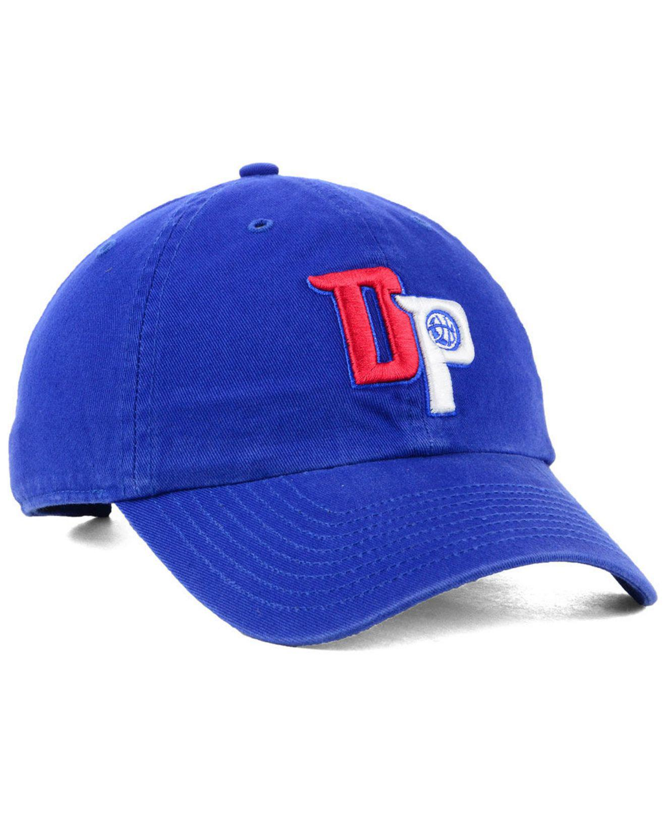 finest selection 4c5ba 04100 ... discount code for 47 brand blue detroit pistons mash up clean up cap for  men lyst