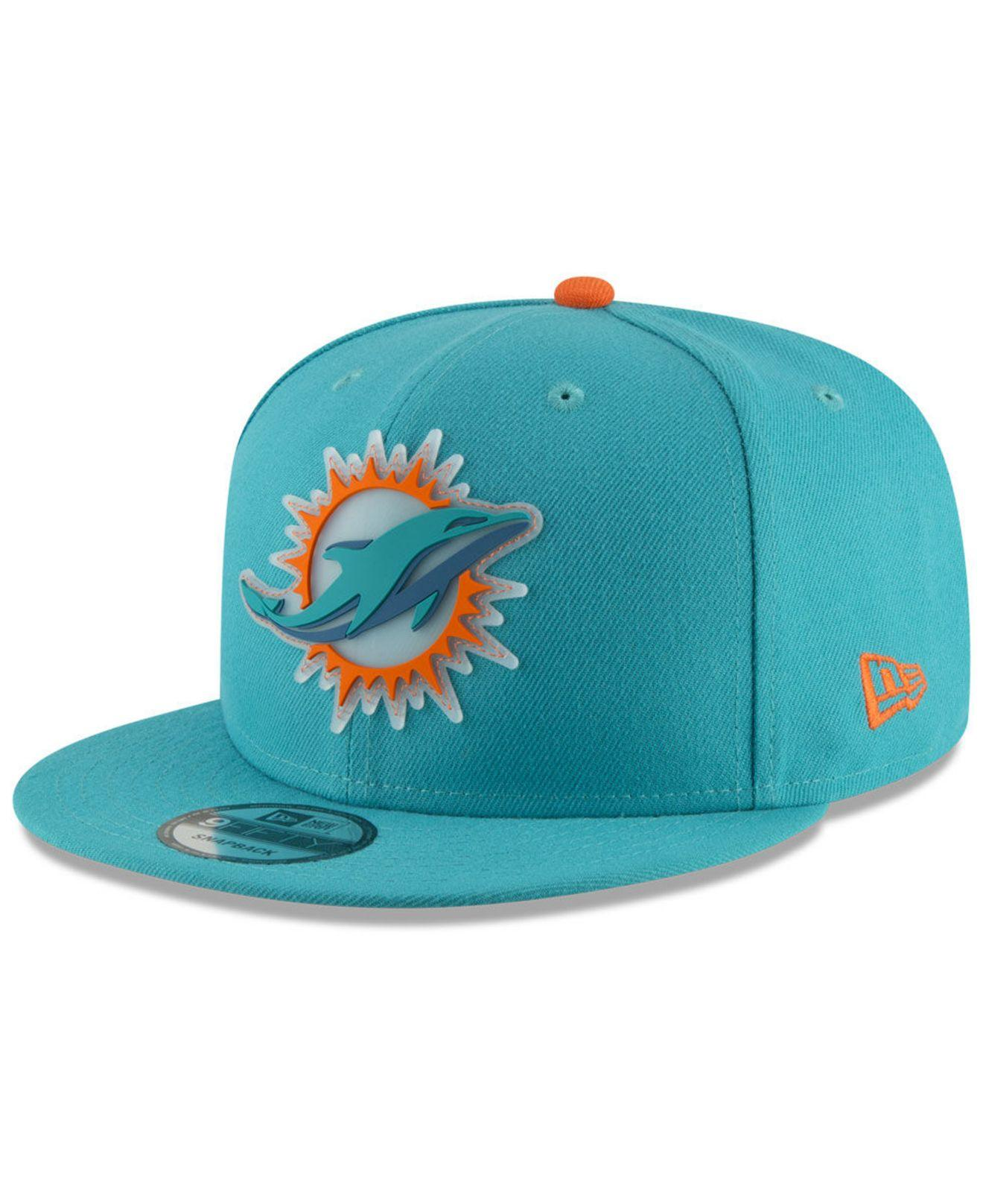 huge selection of 58f2b 1eadc KTZ - Blue Miami Dolphins Team Clear 9fifty Snapback Cap for Men - Lyst.  View fullscreen