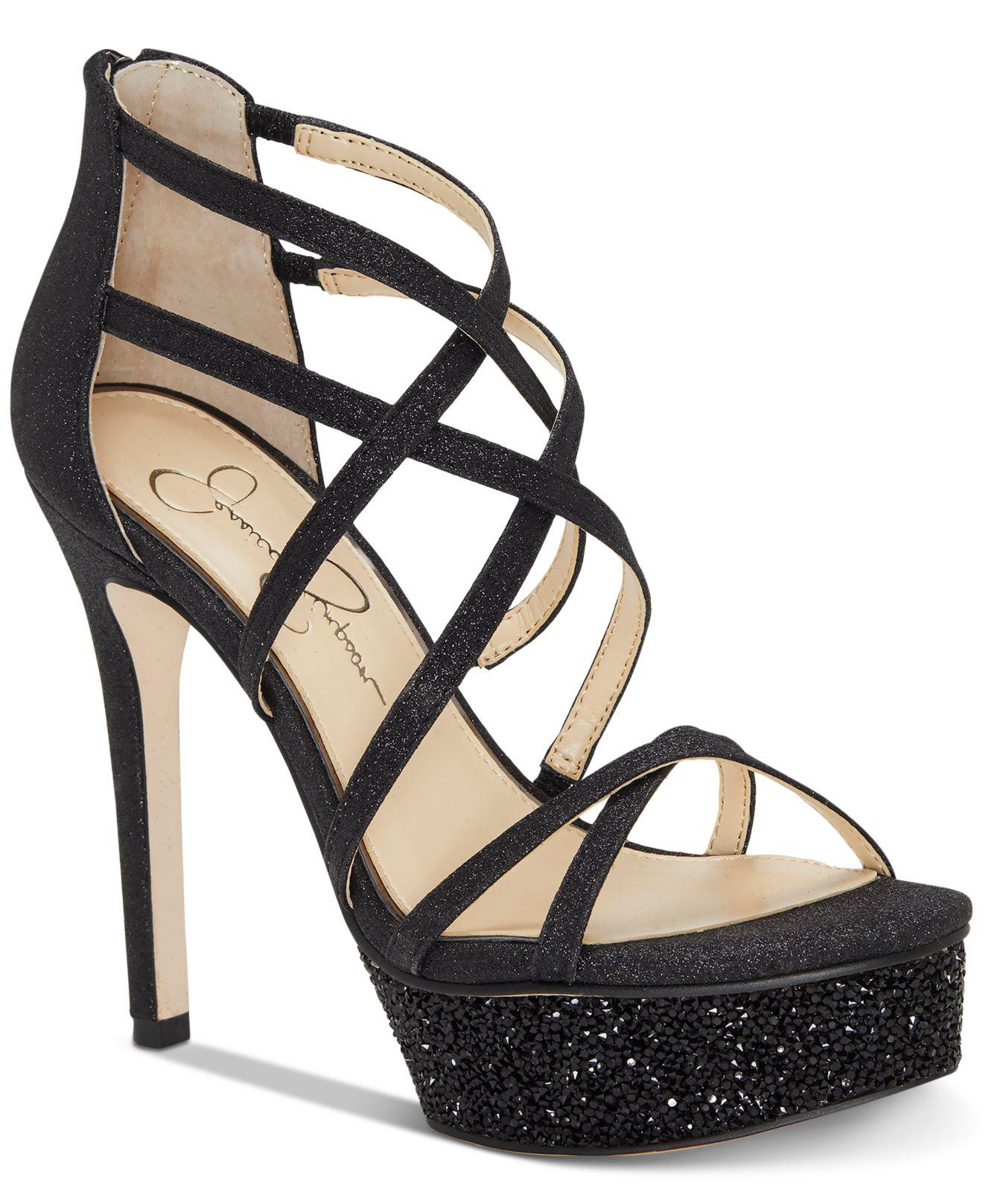 9ec930e1966 Lyst - Jessica Simpson Araya Dress Sandals in Black - Save 40%