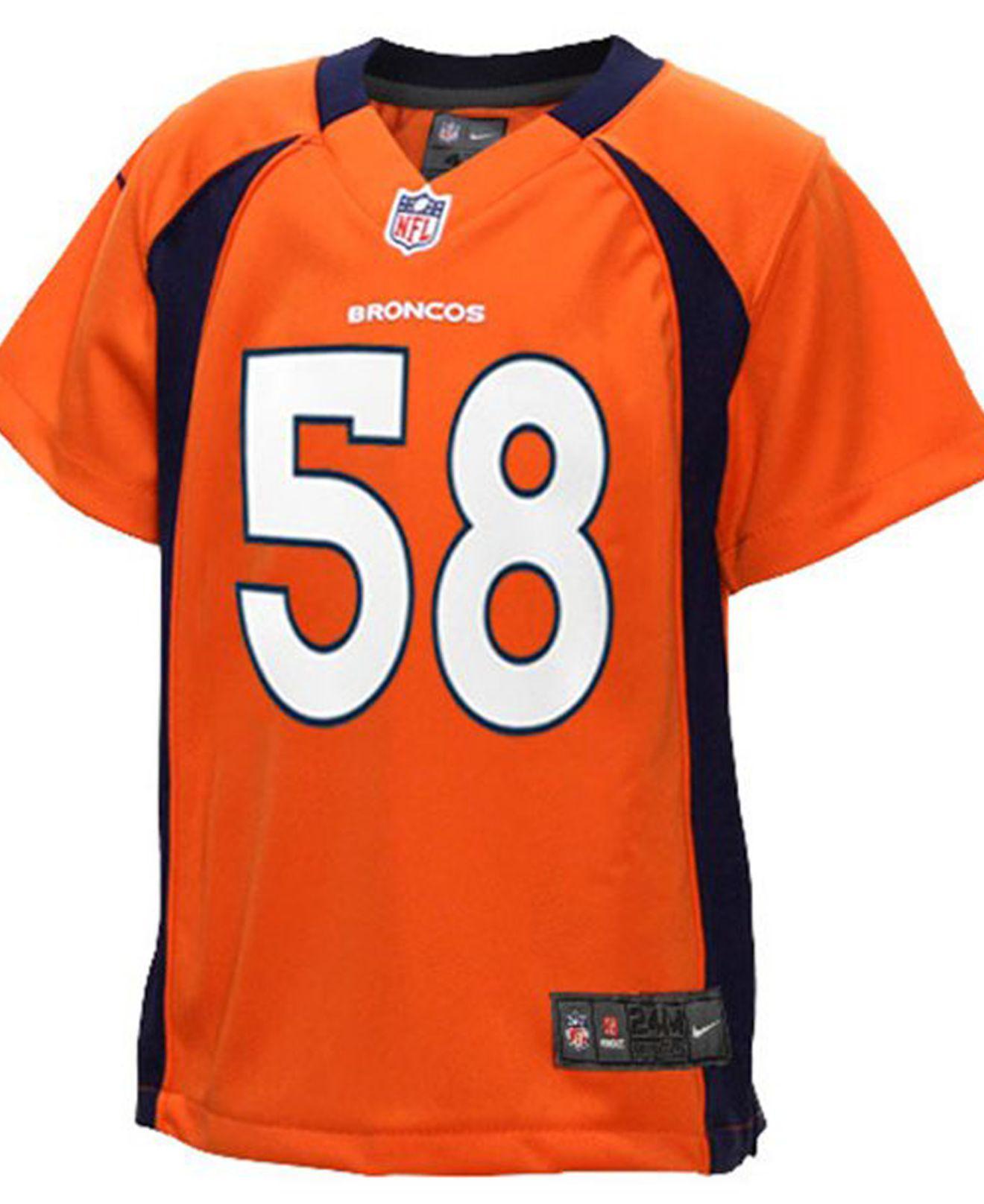 Lyst - Nike Toddlers  Von Miller Denver Broncos Jersey in Orange for Men e4903c2c8