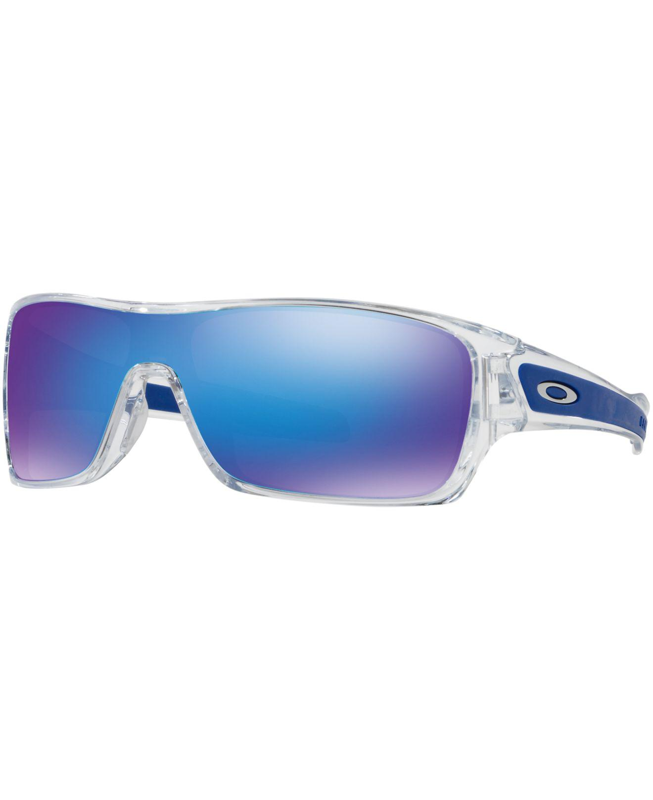 86cb75ee55 Oakley. Men s Blue Turbine Rotor Sunglasses