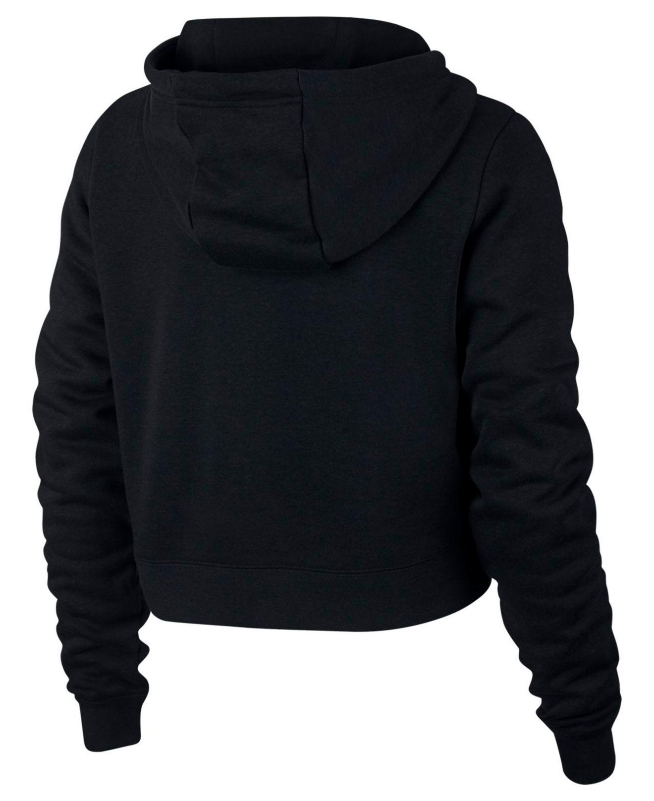 008f2cc3e08b2 Lyst - Nike Sportswear Rally Logo Cropped Fleece Hoodie in Black - Save  51.666666666666664%