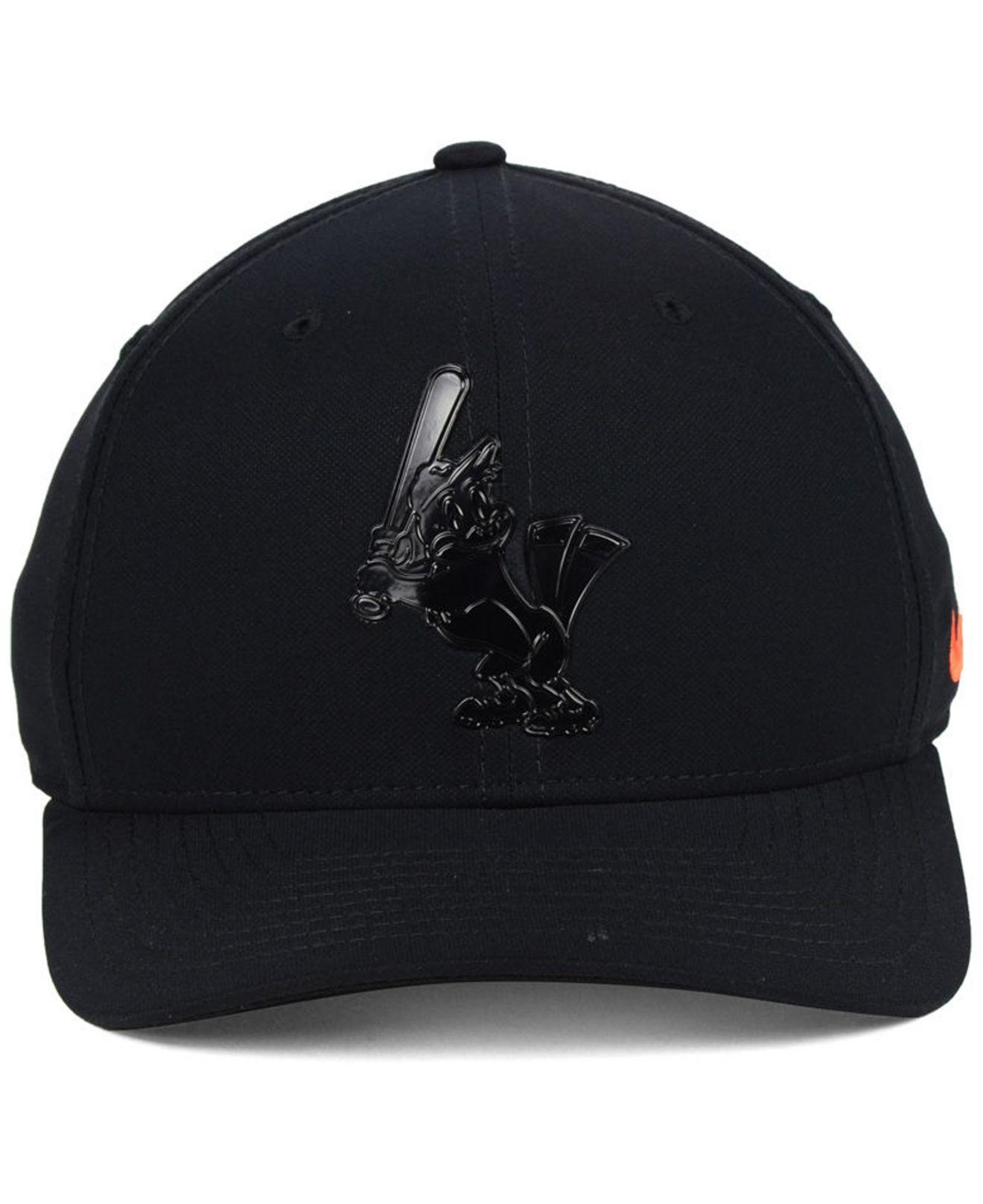 cd5df55c9ece8 Lyst - Nike Baltimore Orioles Gloss Swooshflex Cap in Black for Men