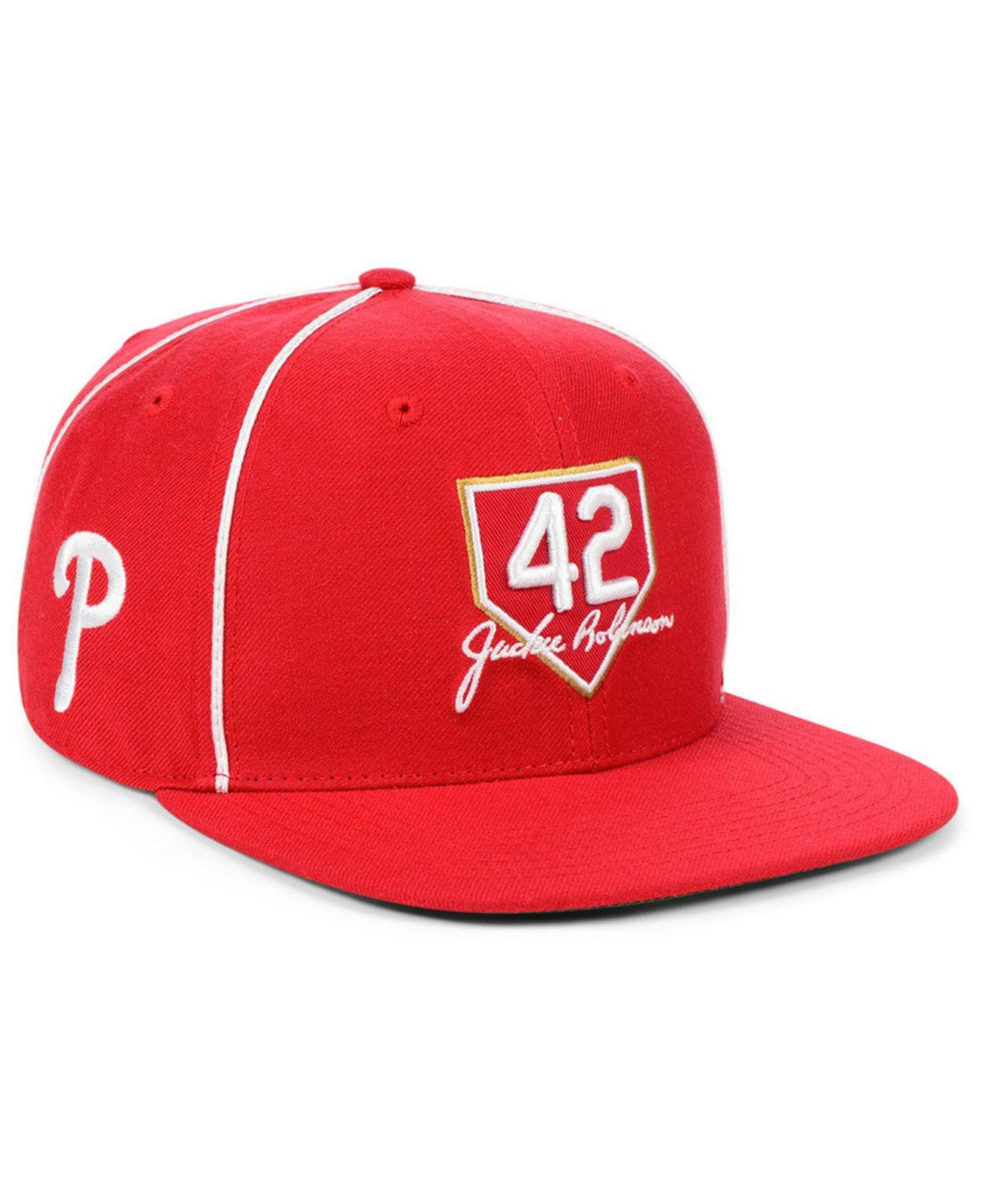 finest selection 33b55 67f01 47 Brand. Men s Red Philadelphia Phillies Jackie Robinson 42 Team ...