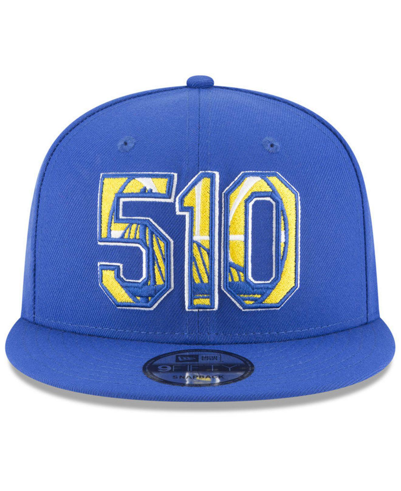new concept 080a4 df09f Lyst - KTZ Golden State Warriors Area Code 9fifty Snapback Cap in Blue for  Men