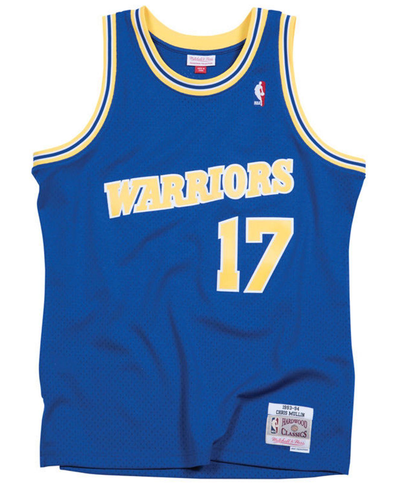 new styles 77e13 10ce2 Mitchell & Ness Chris Mullin Golden State Warriors Hardwood ...